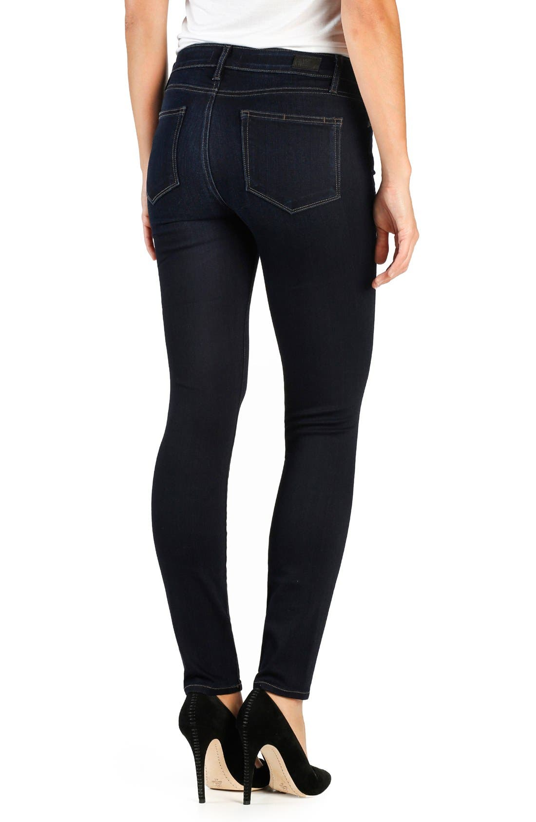 Transcend Verdugo Ankle Ultra Skinny Jeans,                             Alternate thumbnail 6, color,                             ELLORA
