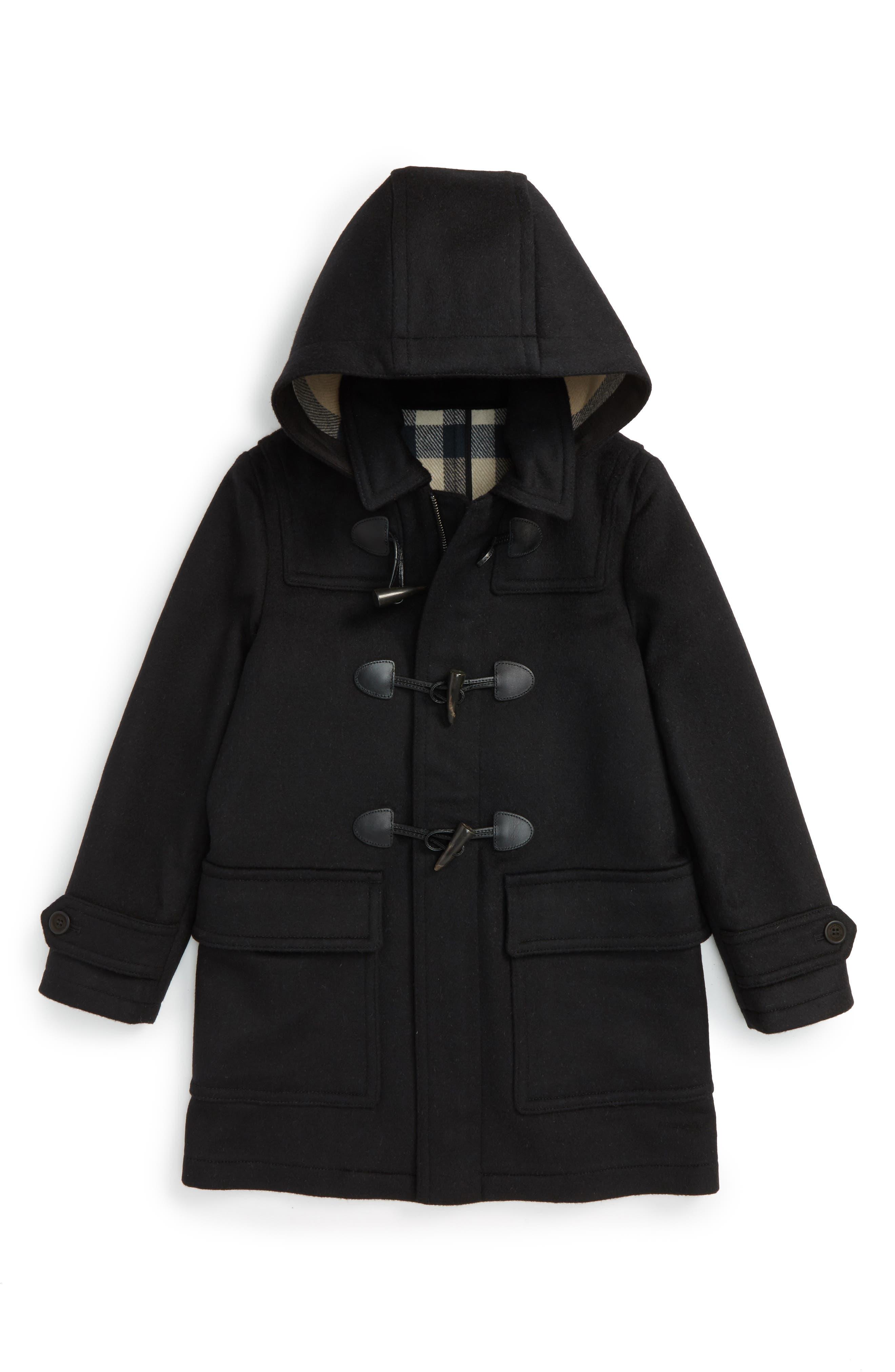 Burwood Wool Toggle Coat,                         Main,                         color, 001