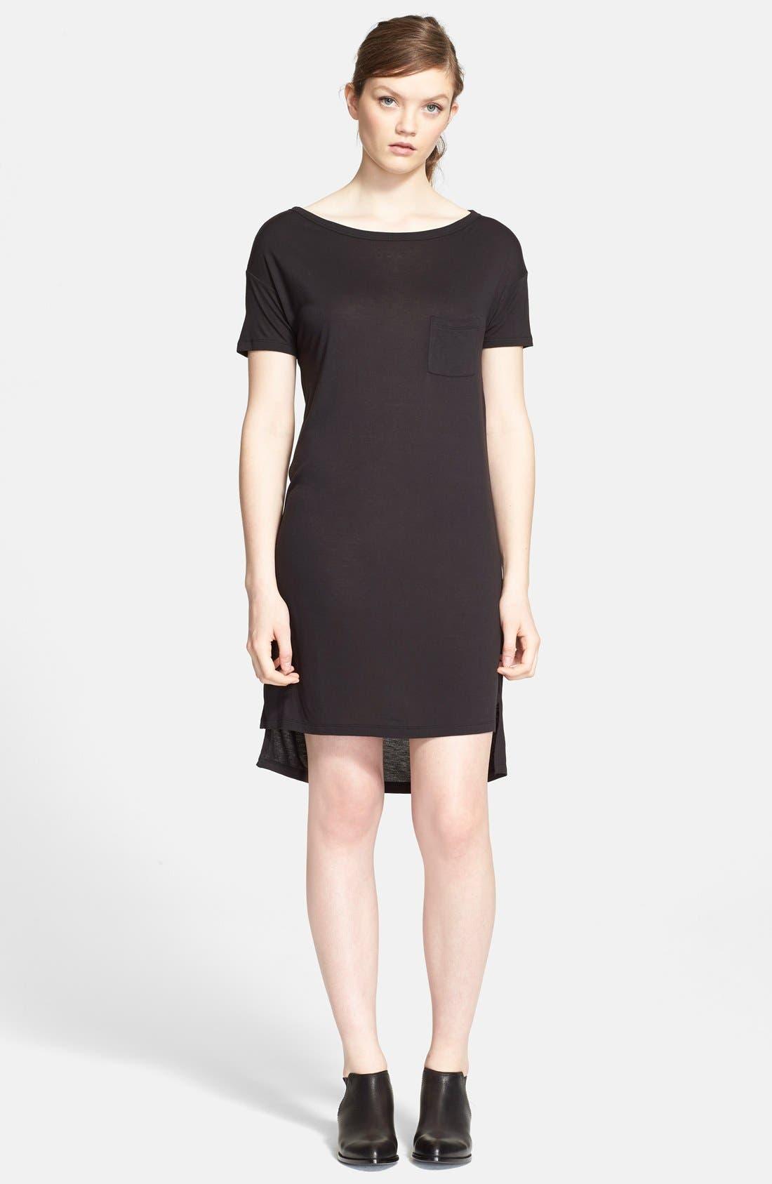 T by Alexander Wang Jersey Dress,                         Main,                         color, 001