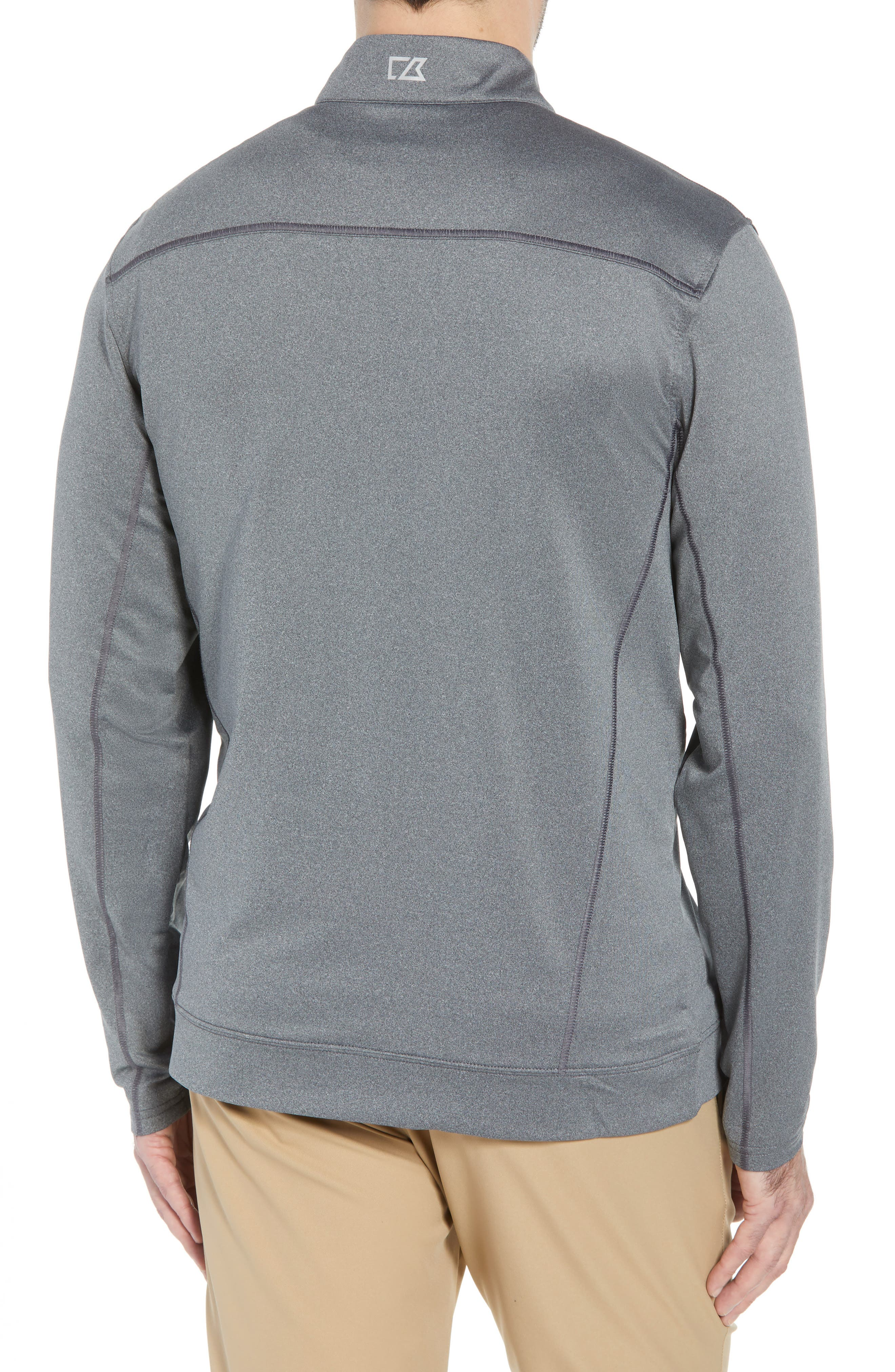Endurance Detroit Lions Regular Fit Pullover,                             Alternate thumbnail 2, color,                             CHARCOAL HEATHER