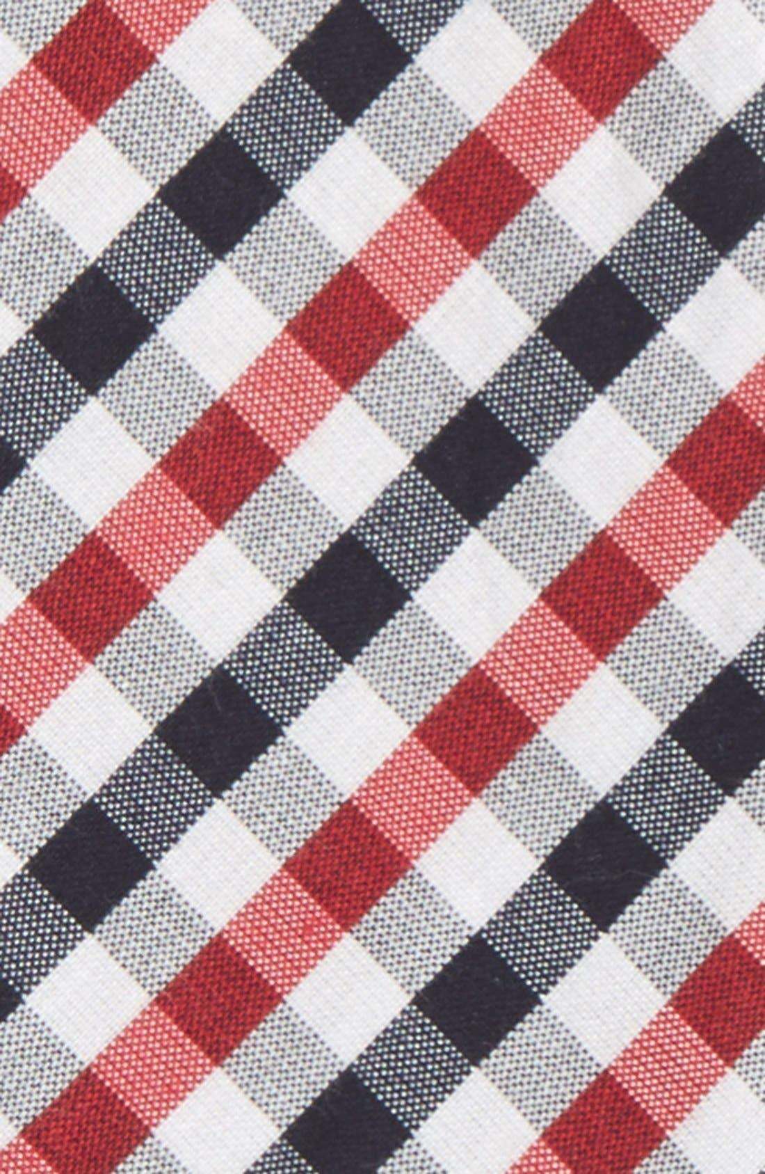 'Bloomquist' Check Silk Blend Bow Tie,                             Alternate thumbnail 6, color,