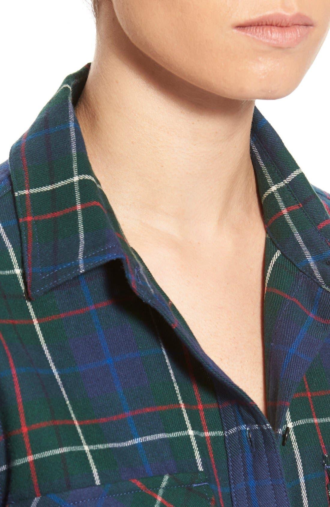 Ex Boyfriend - Ontario Plaid Flannel Shirt,                             Alternate thumbnail 4, color,