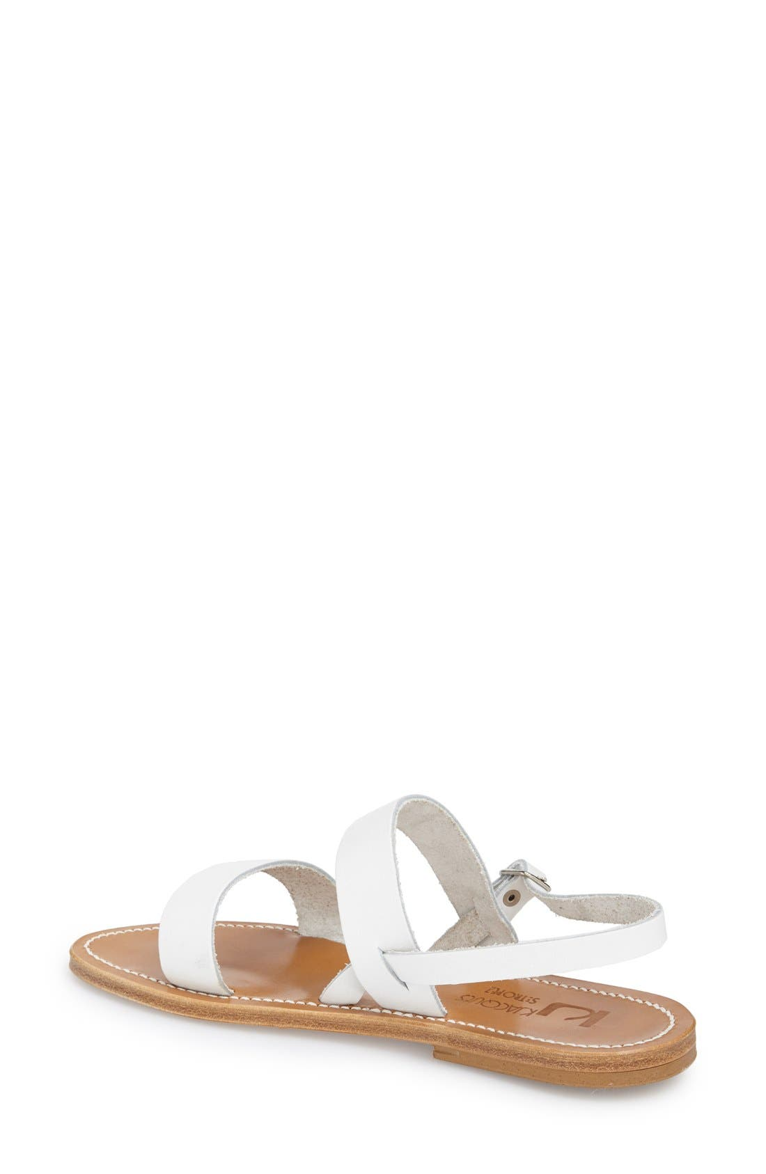 K Jacques St. Tropez Flat 'Barigoule' Vachetta Leather Sandal,                             Alternate thumbnail 2, color,                             101