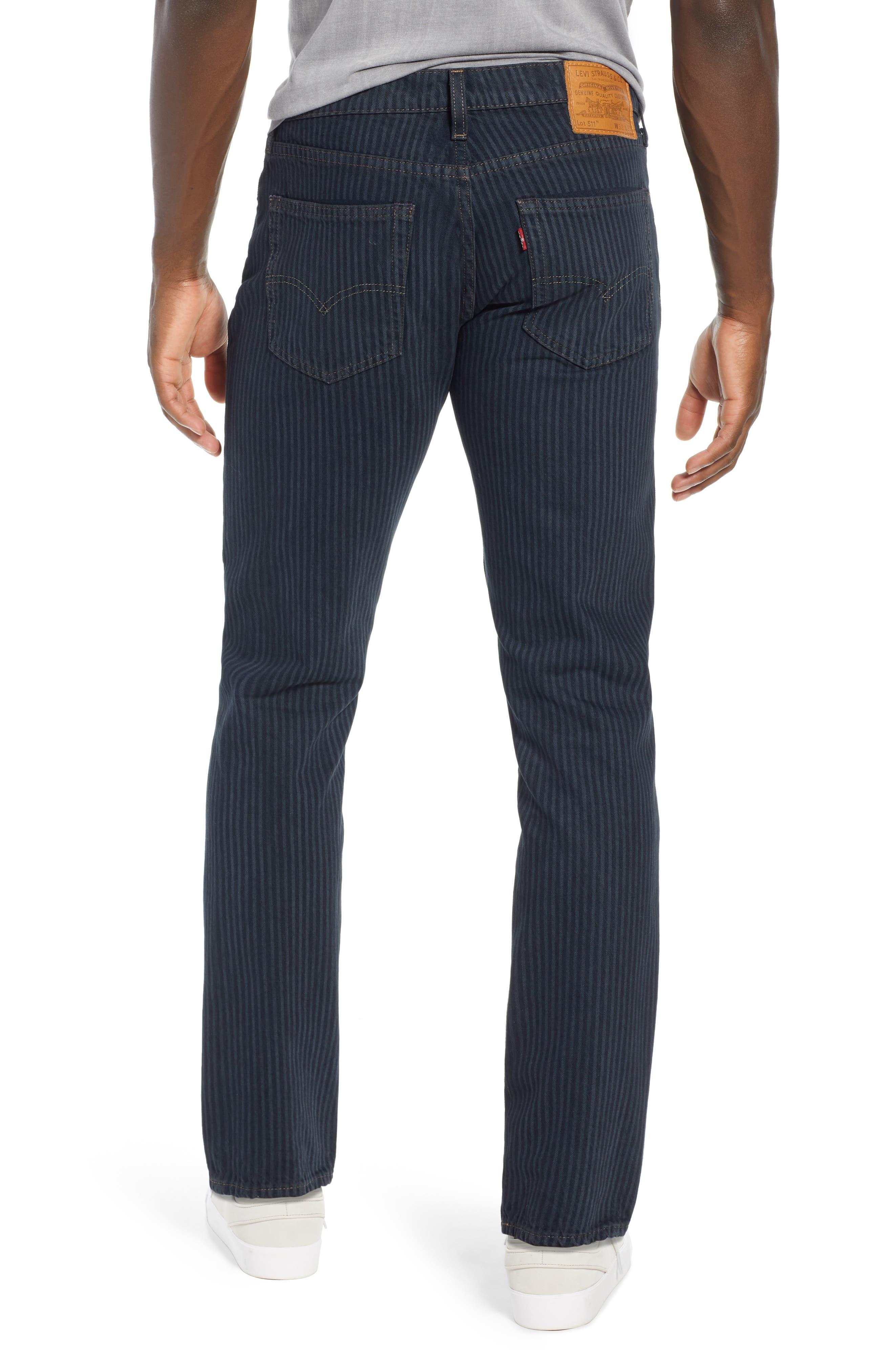 511<sup>™</sup> Stripe Slim Fit Jeans,                             Alternate thumbnail 2, color,                             PAUPER