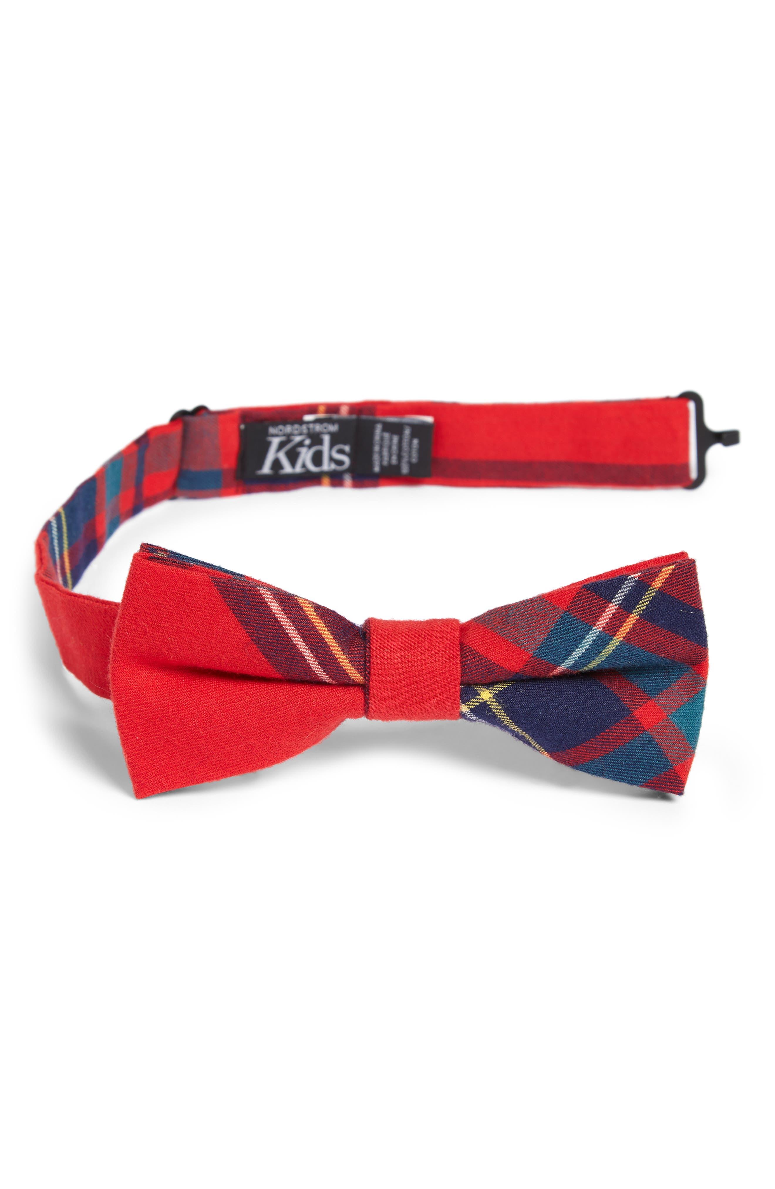 Plaid Cotton Bow Tie,                             Main thumbnail 1, color,                             600