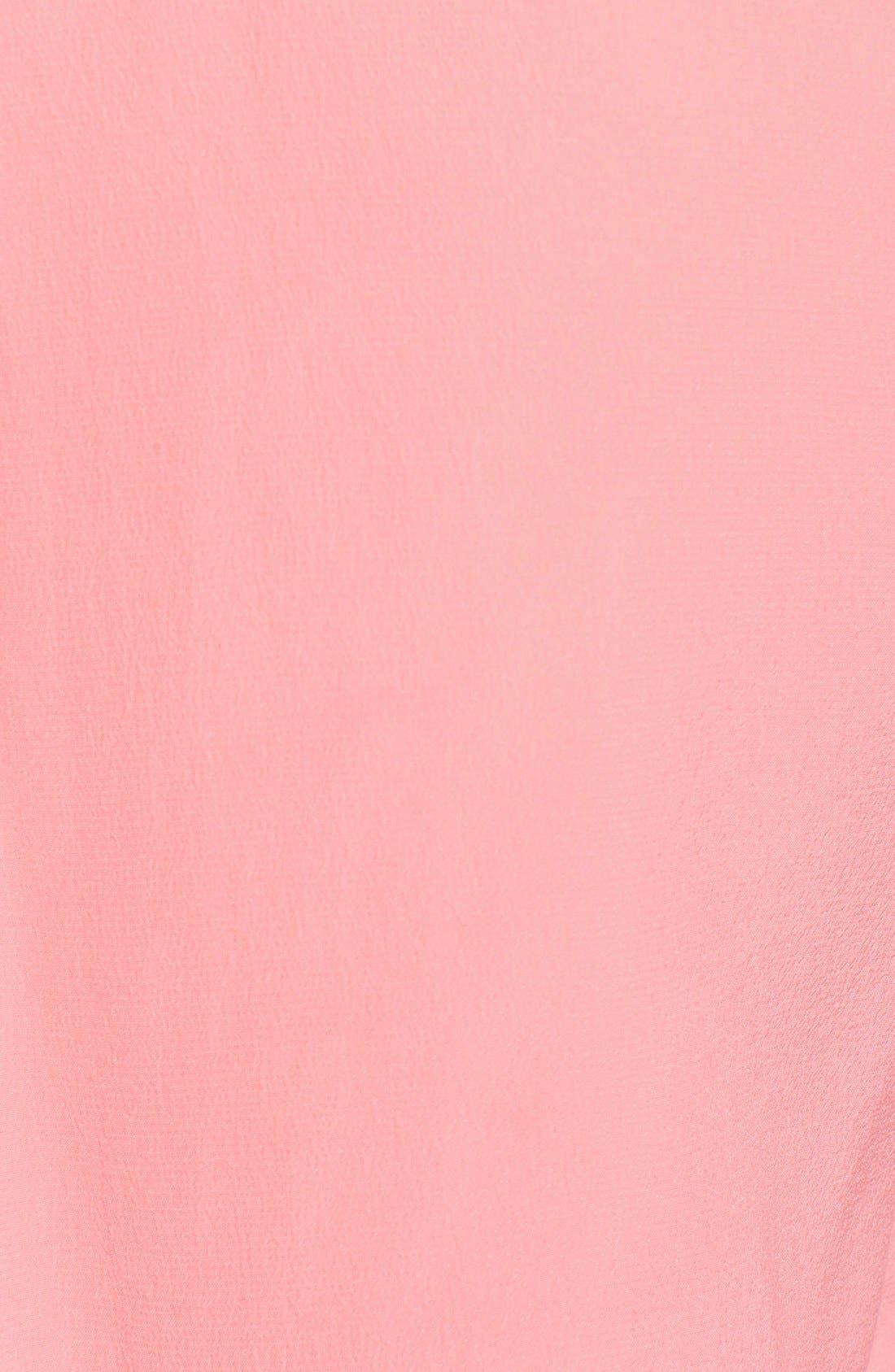 'Slim Signature' Sleeveless Silk Shirt,                             Alternate thumbnail 90, color,