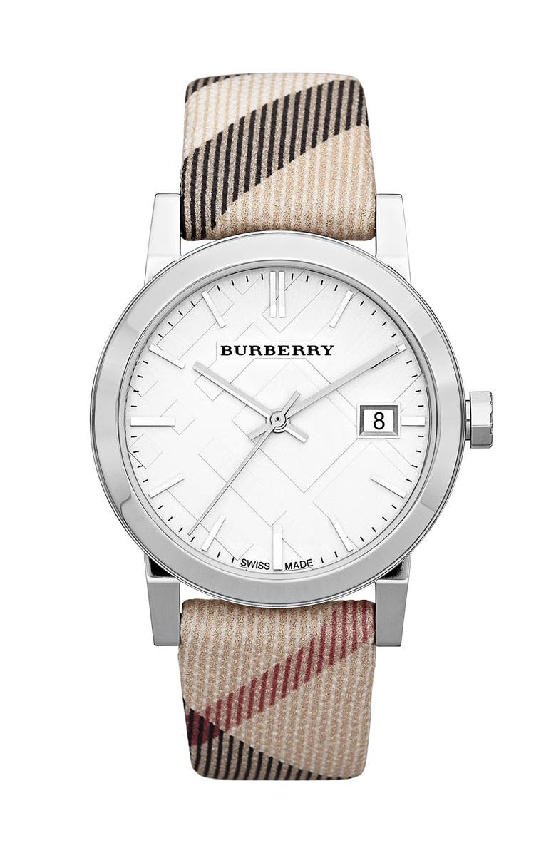 Medium Check Strap Watch