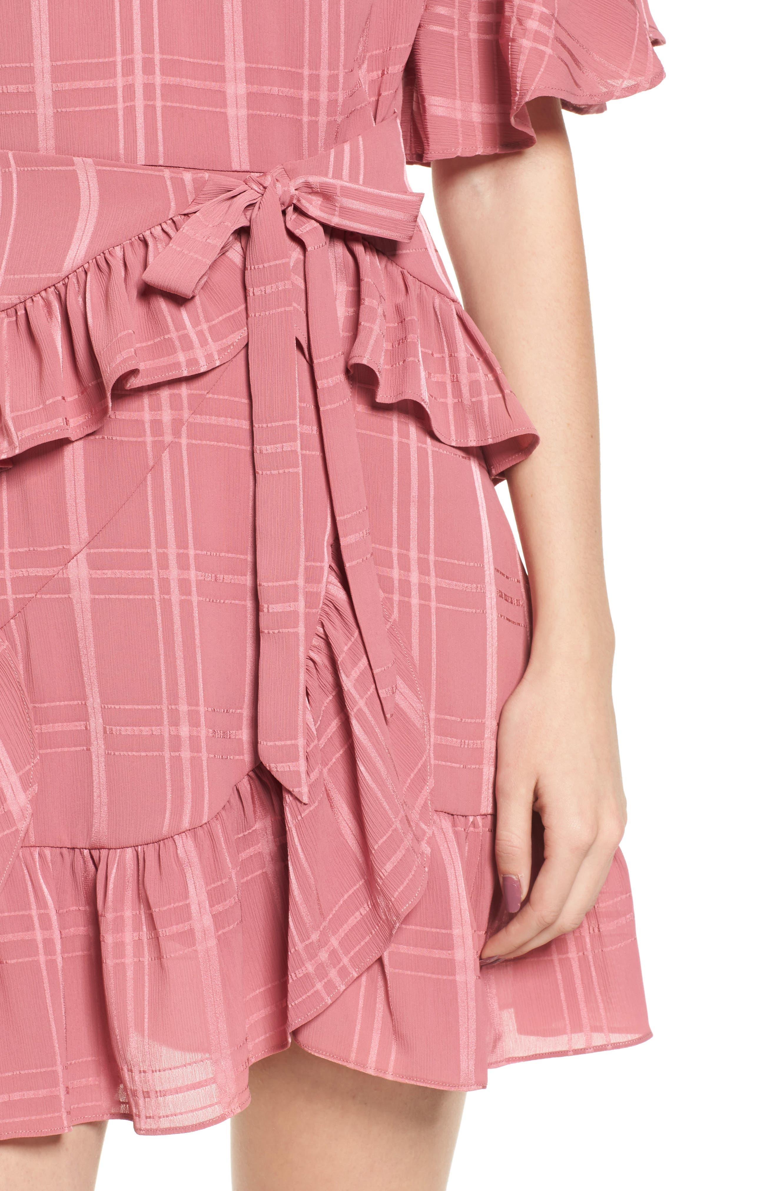 Hudson Ruffle Minidress,                             Alternate thumbnail 4, color,                             683