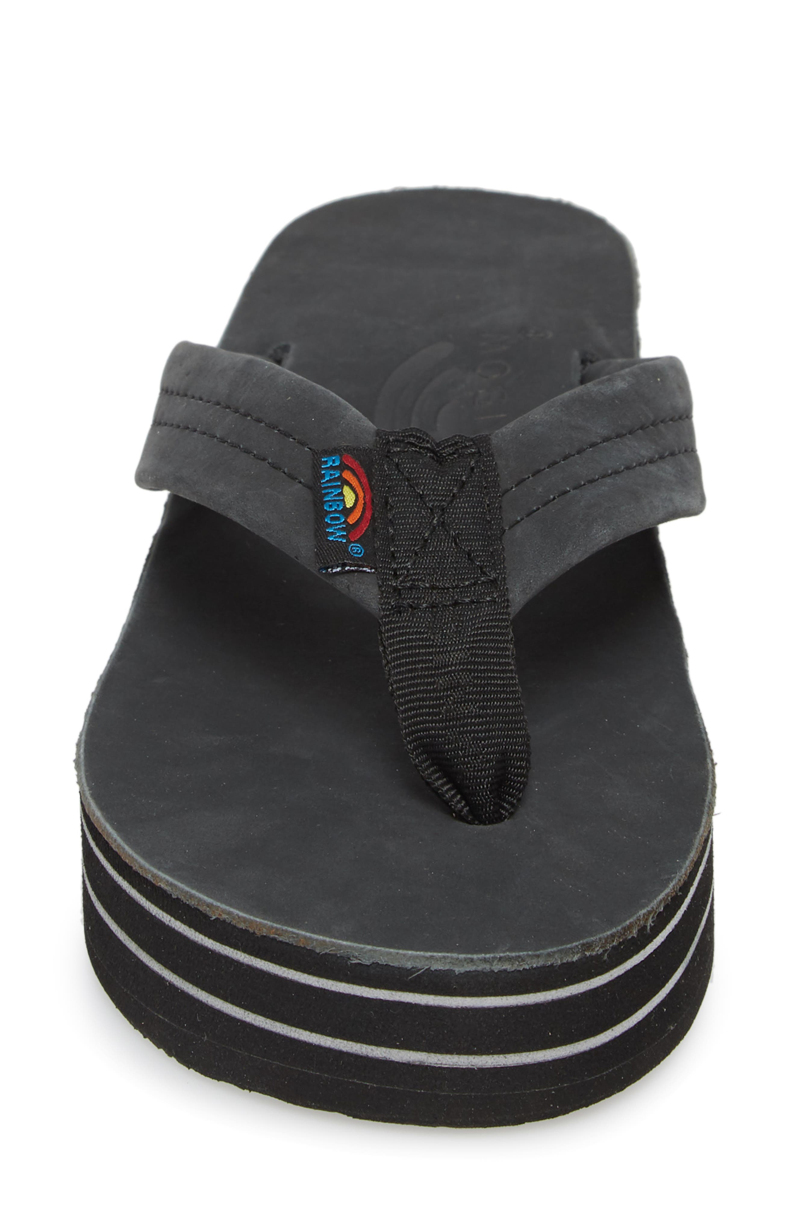 RAINBOW<SUP>®</SUP>,                             Rainbow 6-Layer Wedge Flip Flop,                             Alternate thumbnail 4, color,                             001