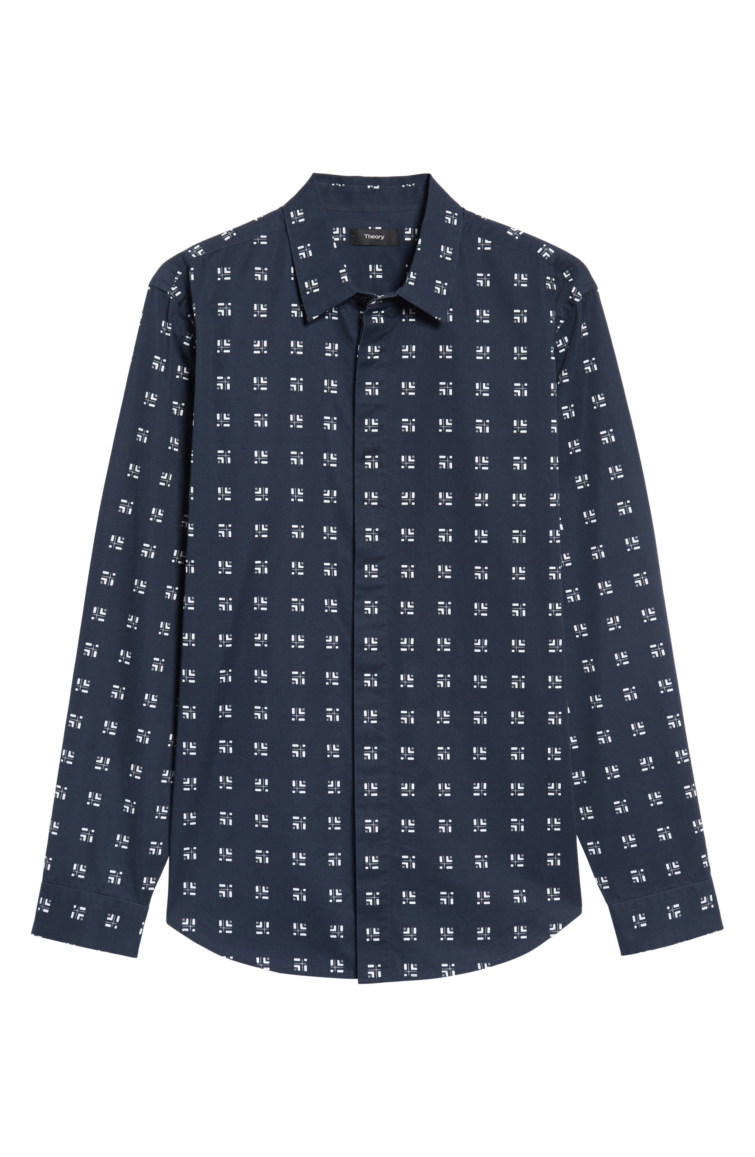 Levy Cross Box Regular Fit Sport Shirt,                             Alternate thumbnail 11, color,