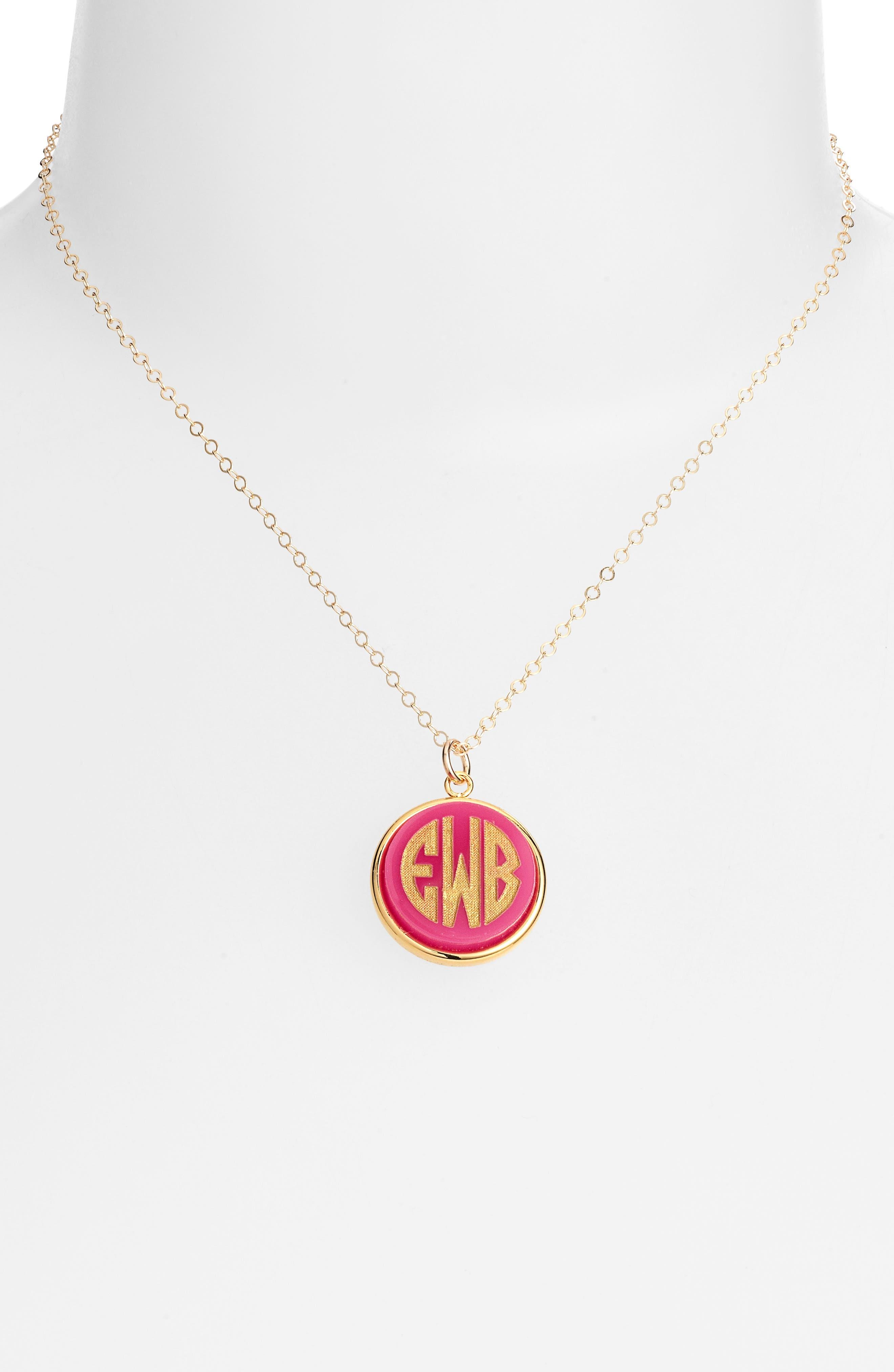 'Vineyard' Personalized Monogram Pendant Necklace,                             Alternate thumbnail 14, color,