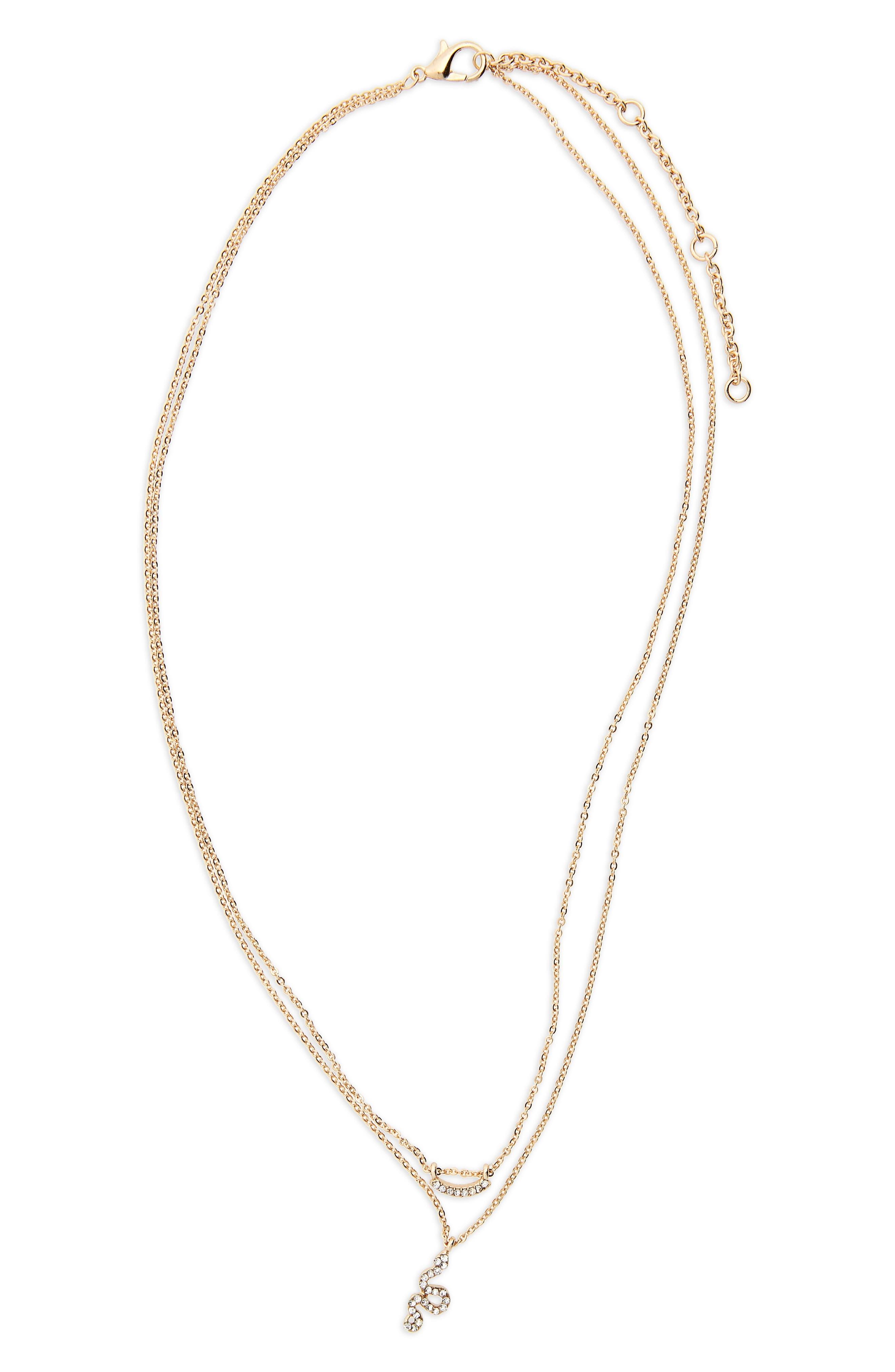 Crystal Snake Layered Necklace,                             Main thumbnail 1, color,