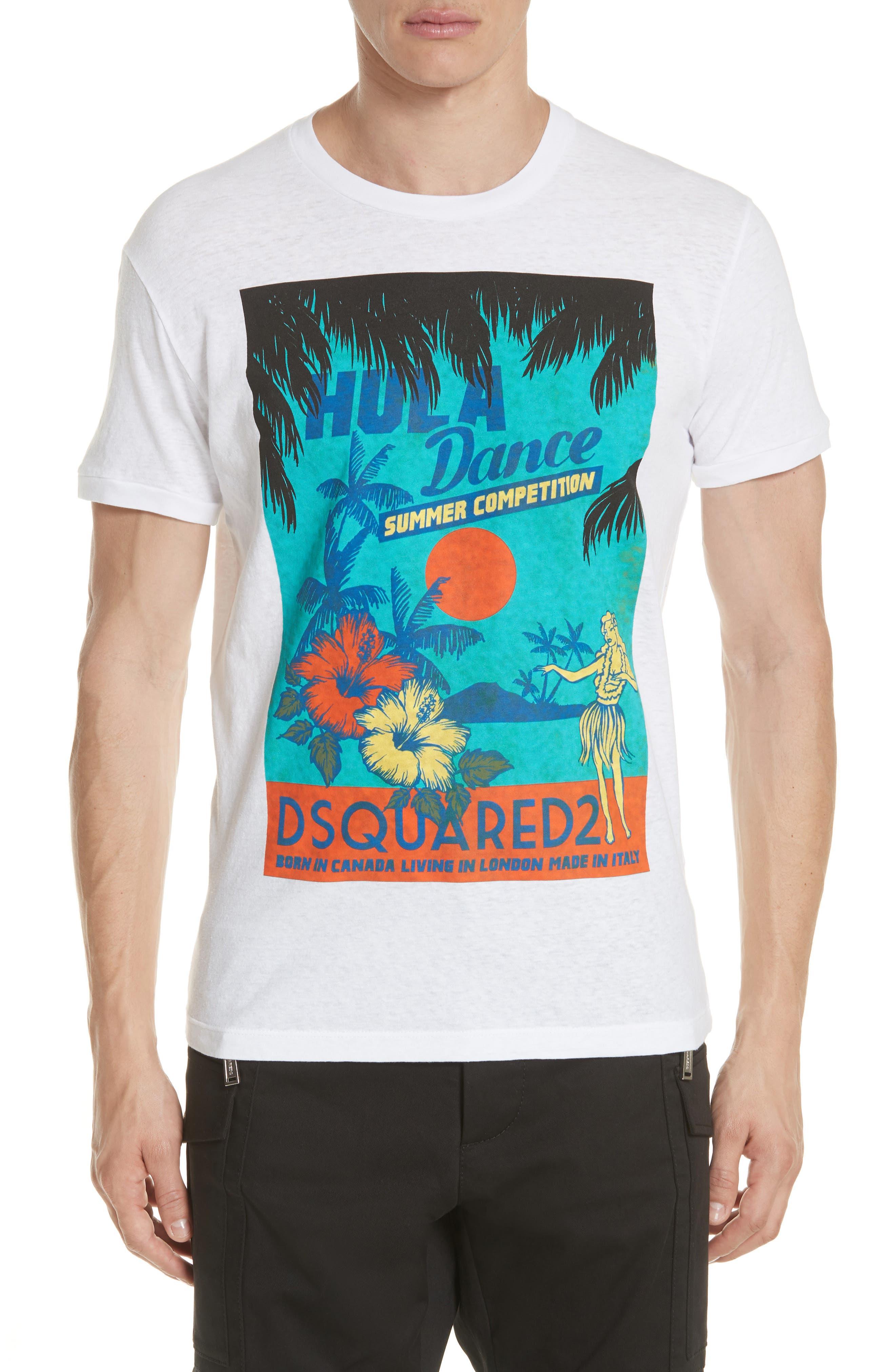 Hula Graphic T-Shirt,                             Main thumbnail 1, color,                             100