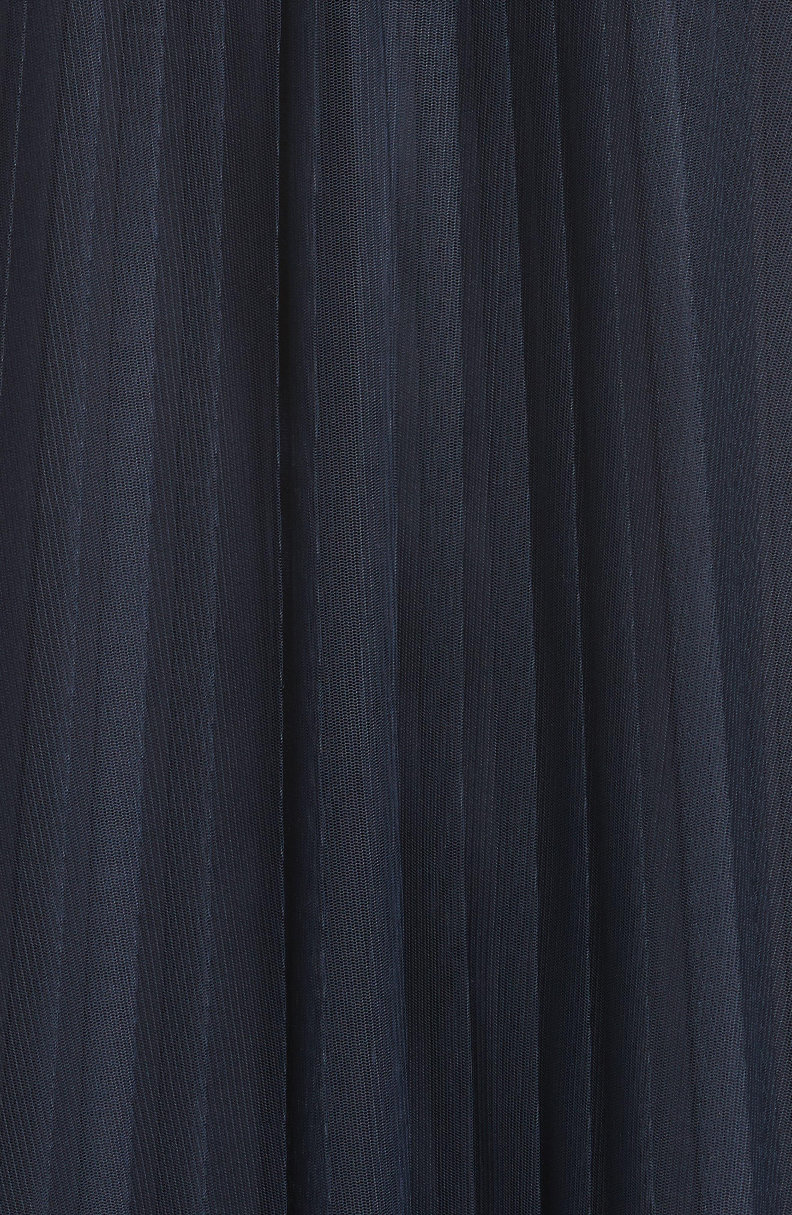 Pleated Mesh Dress,                             Alternate thumbnail 5, color,                             434