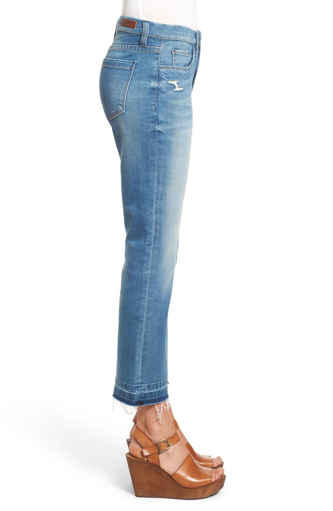 Released Hem Ankle Flare Jeans,                             Alternate thumbnail 4, color,                             420
