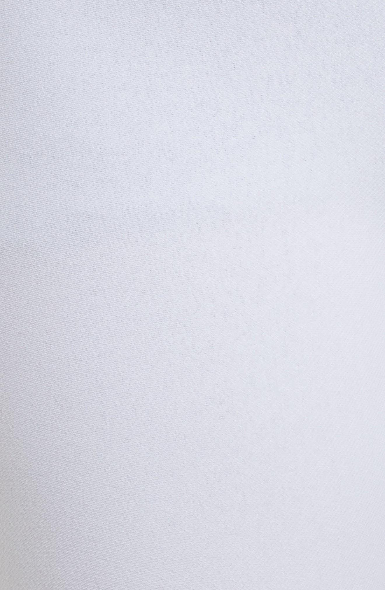 Ankle Slit Crop Denim Leggings,                             Alternate thumbnail 5, color,                             WHITE