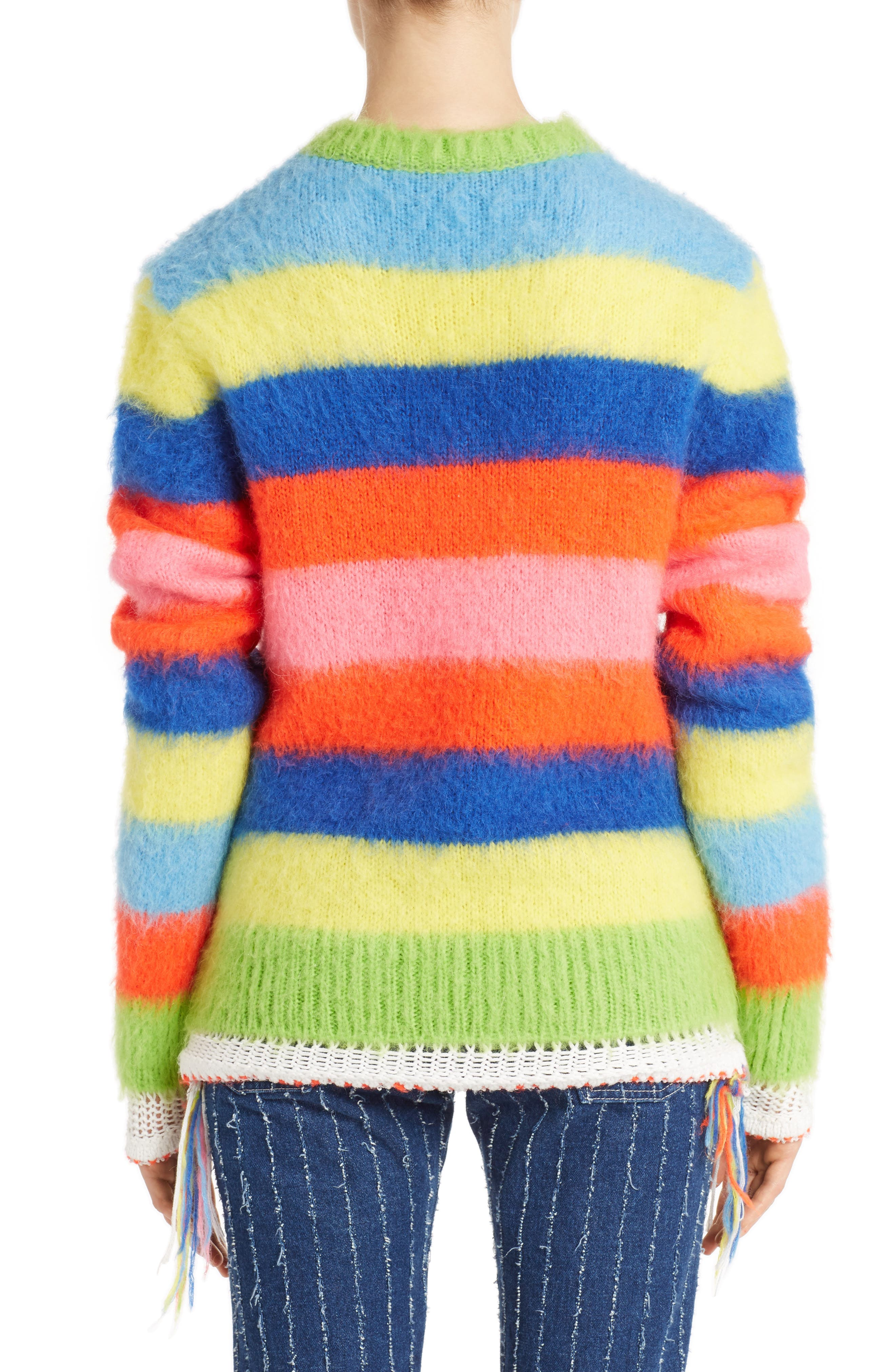 Multi Stripe Sweater,                             Alternate thumbnail 2, color,                             020