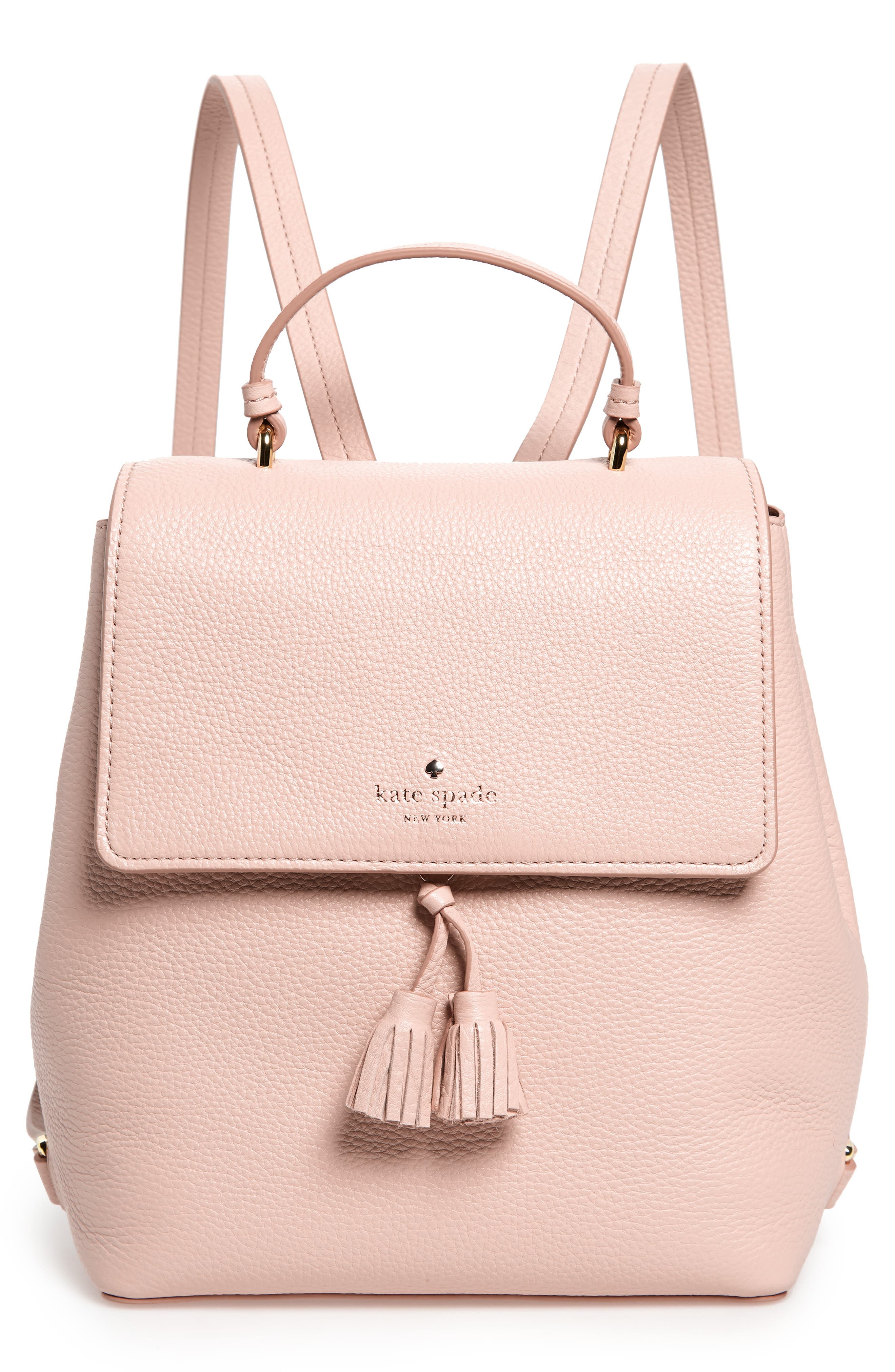Hayes Street - Teba Leather Backpack - Pink in Warm Vellum