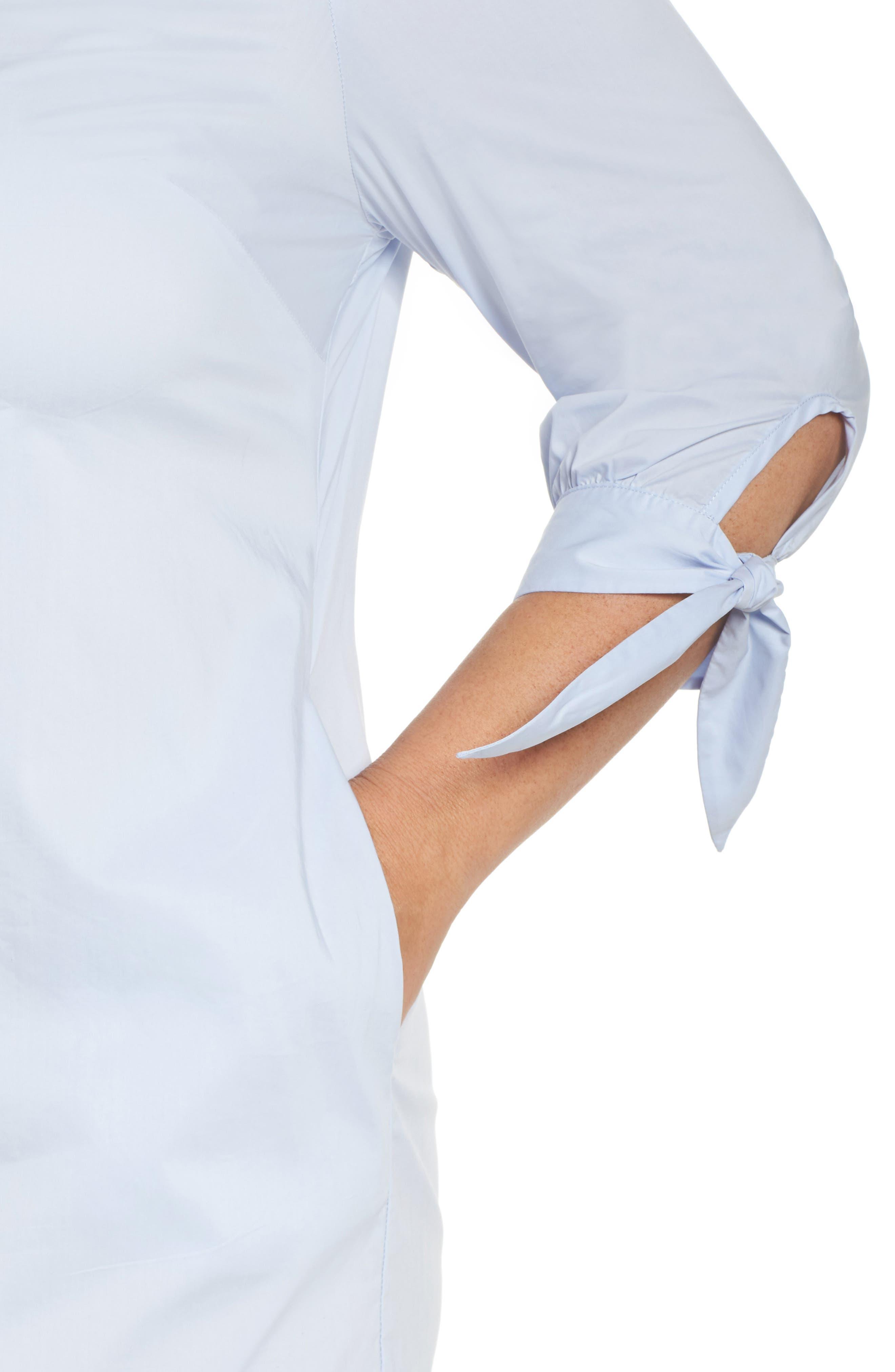 Ruffle Tie Sleeve Dress,                             Alternate thumbnail 4, color,                             460