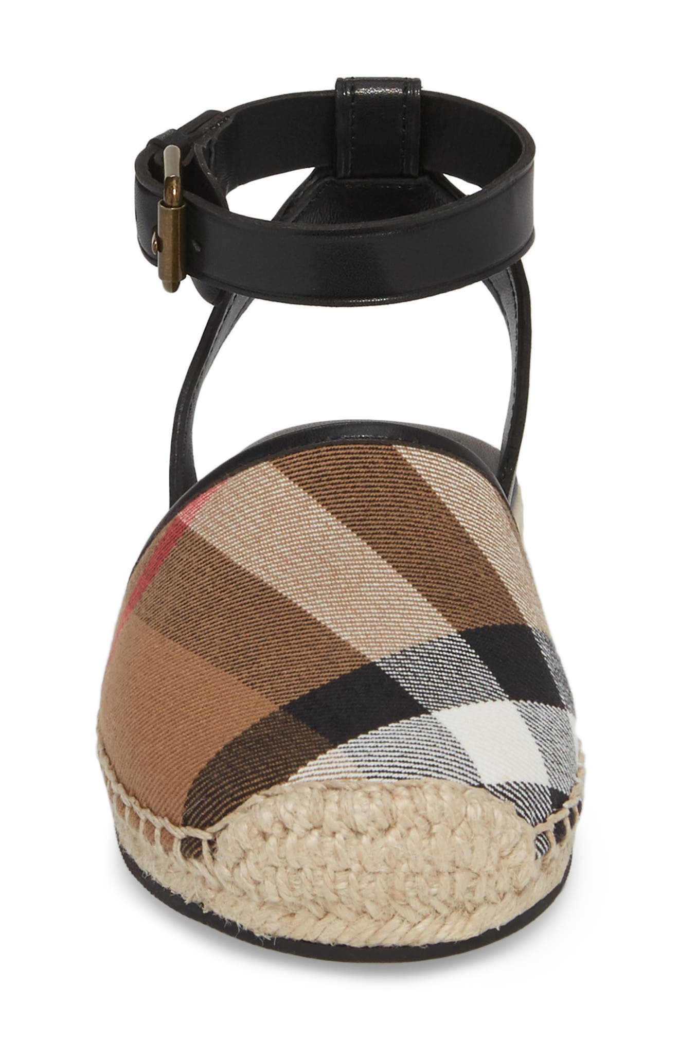 Perth Ankle Strap Sandal,                             Alternate thumbnail 4, color,                             BLACK