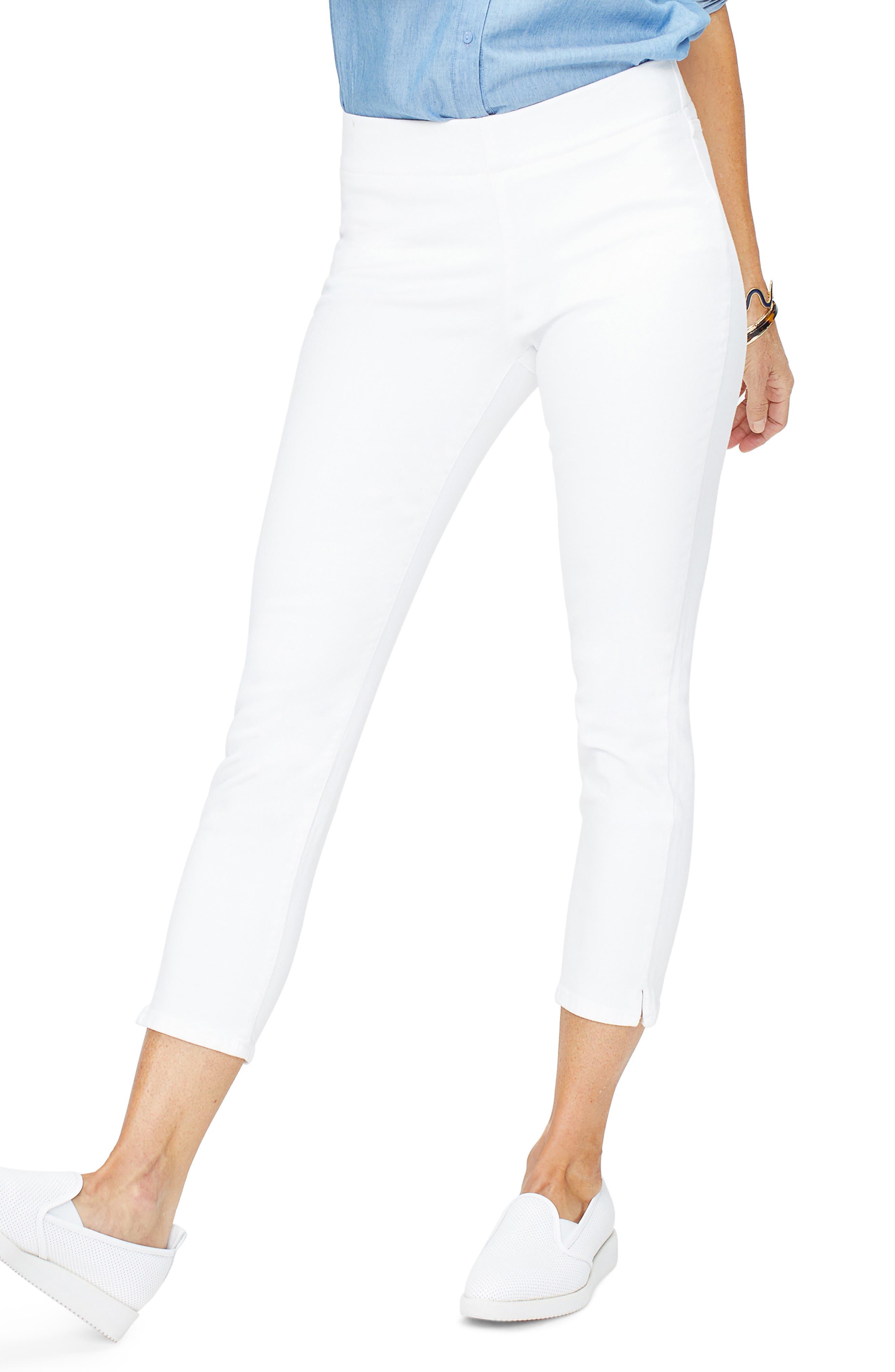 NYDJ,                             Millie Ankle Skinny Jeans,                             Main thumbnail 1, color,                             OPTIC WHITE