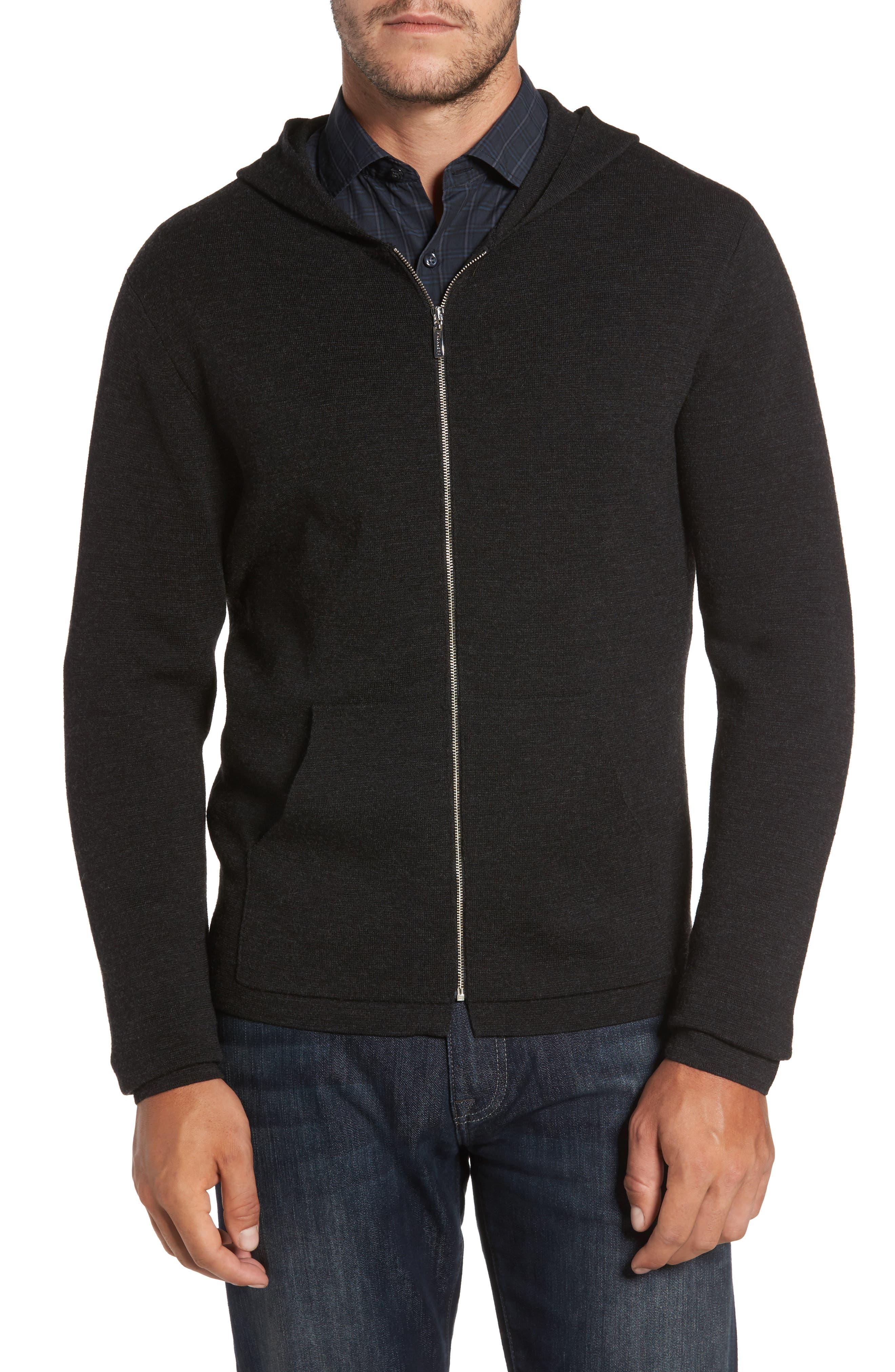Carmichael Full Zip Merino Wool Hoodie,                         Main,                         color, 041