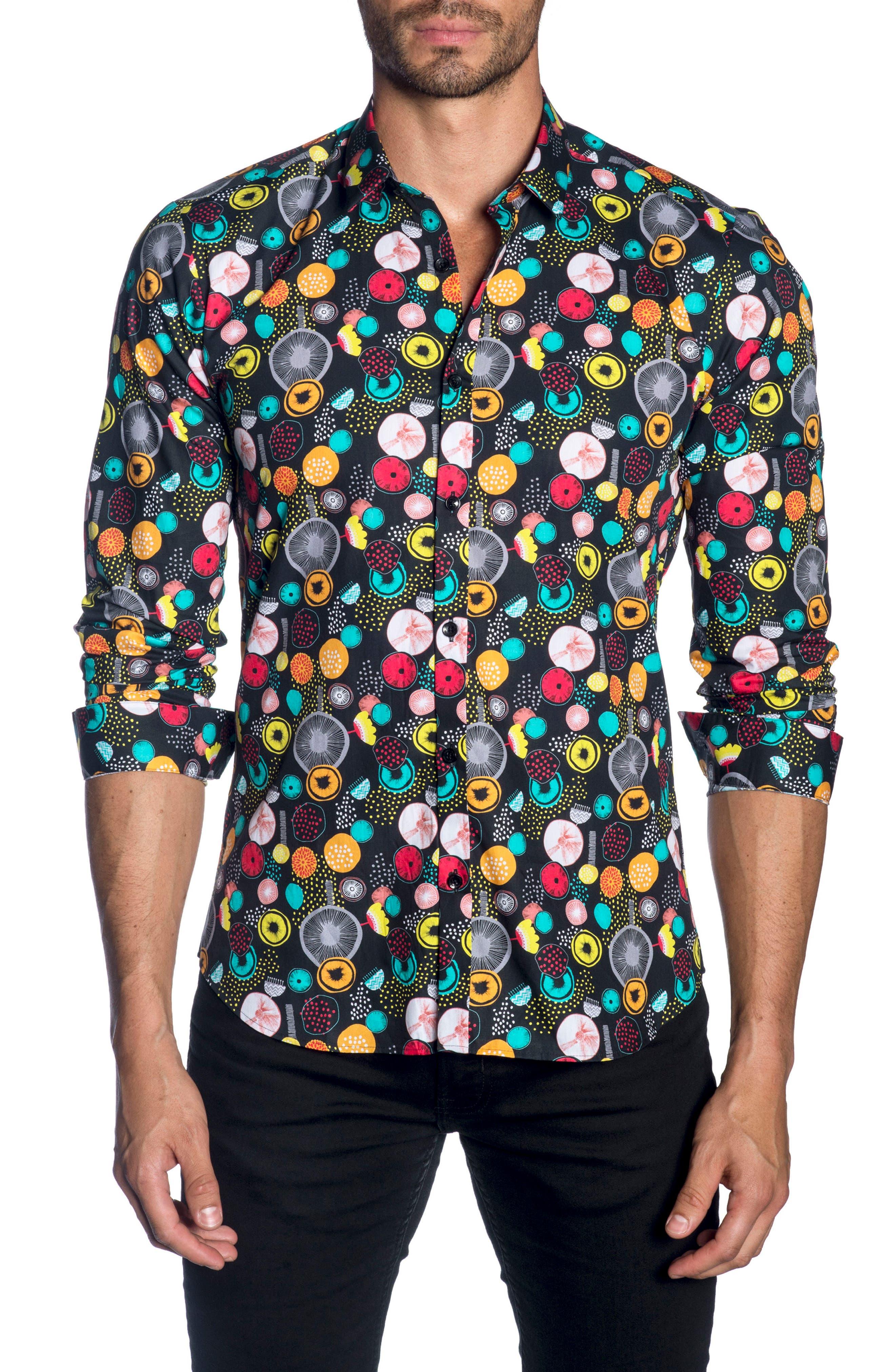 Trim Fit Sport Shirt,                         Main,                         color, 001