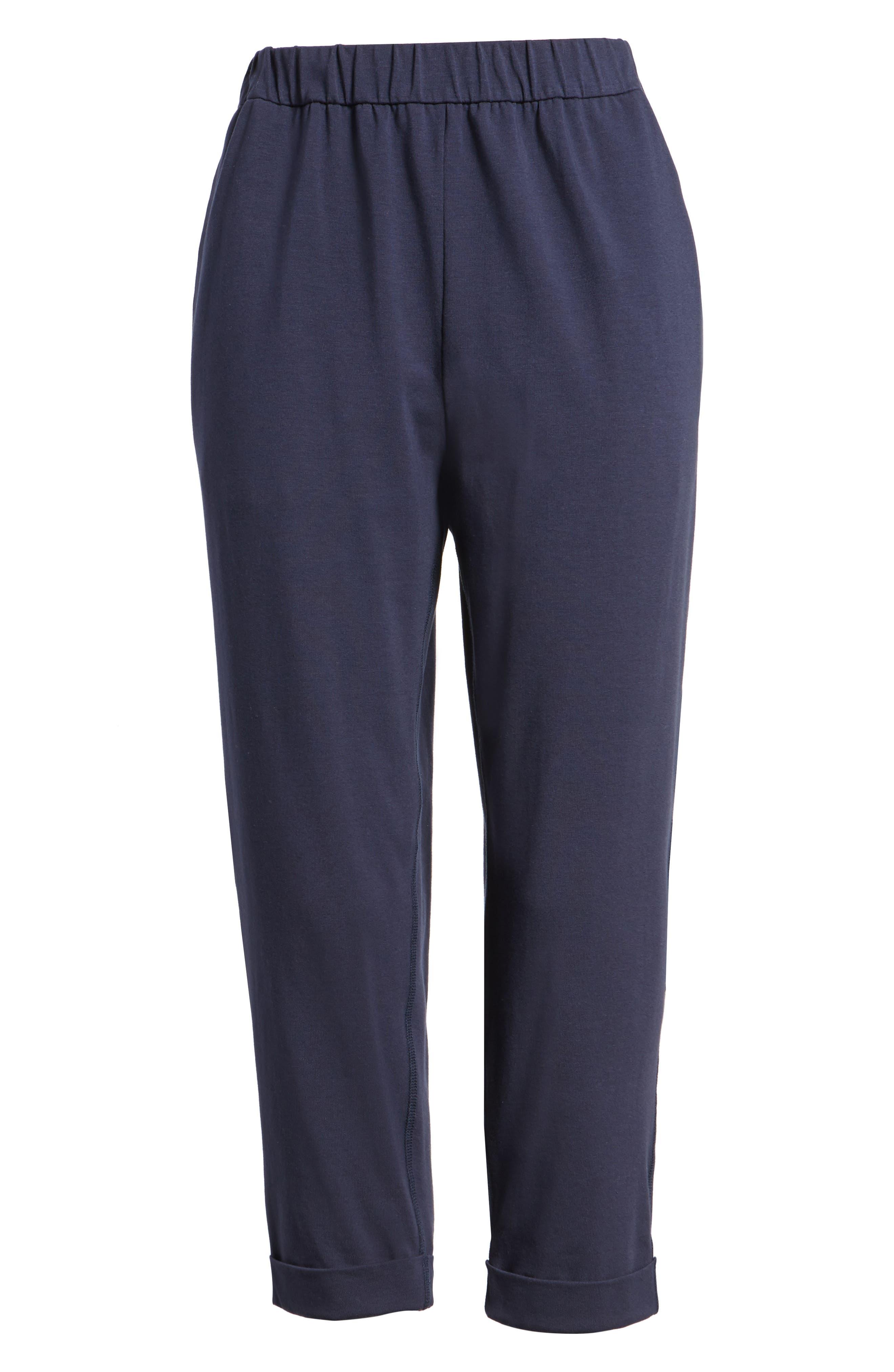 Stretch Organic Cotton Crop Pants,                             Alternate thumbnail 13, color,