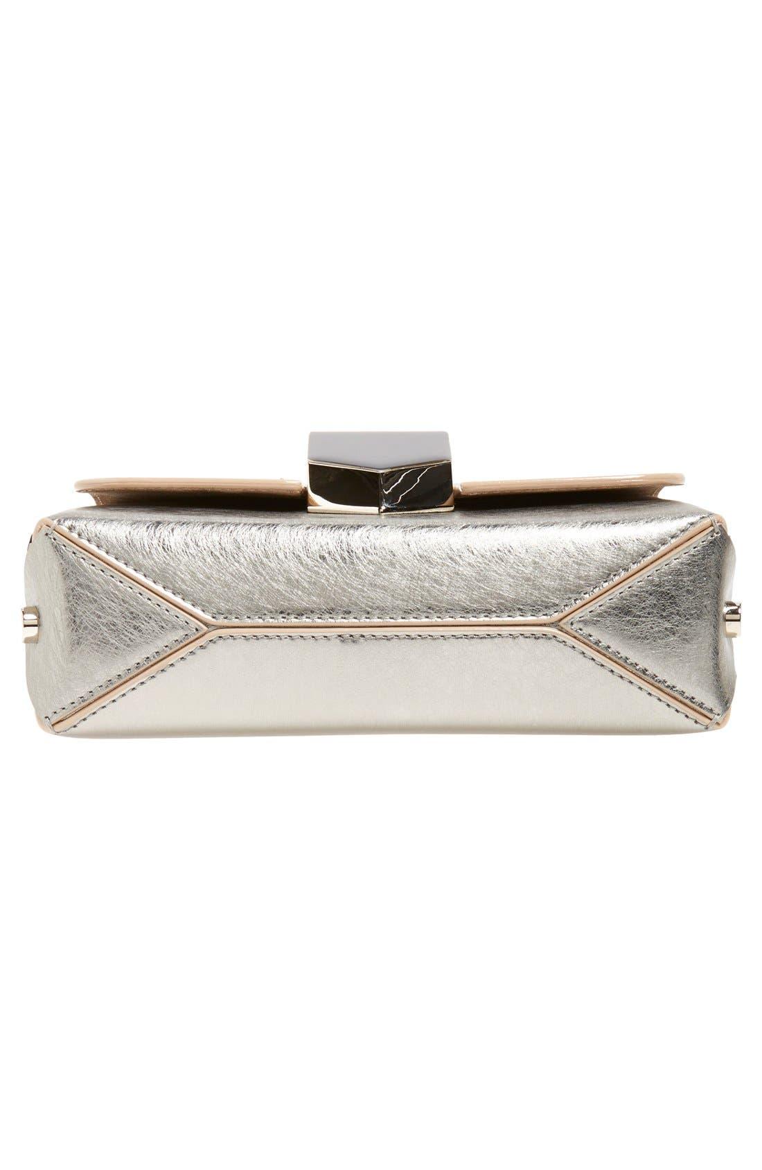 'Lockett Petite' Metallic Leather Shoulder Bag,                             Alternate thumbnail 12, color,