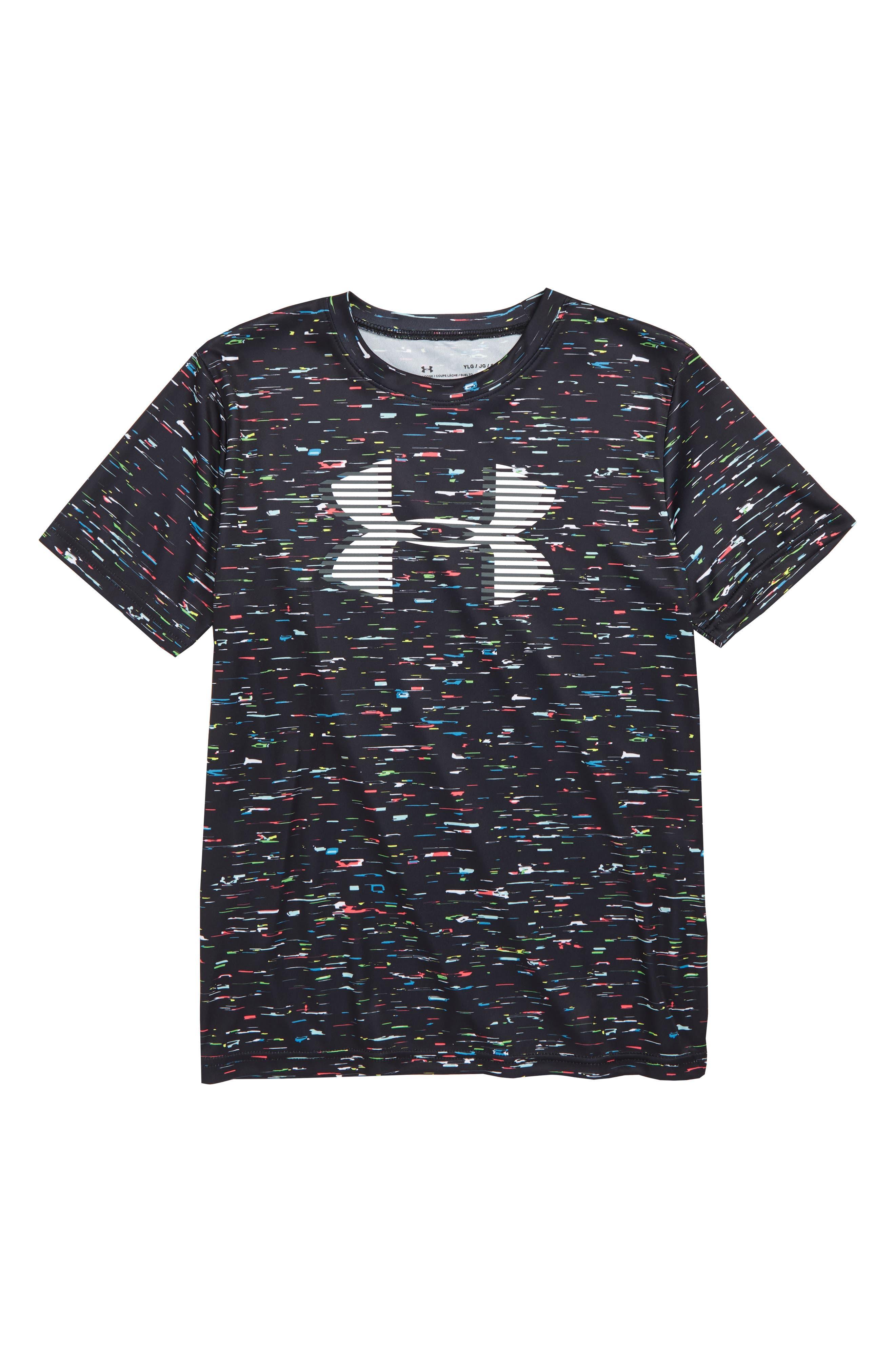 UA Tech<sup>™</sup> Big Logo T-Shirt, Main, color, BLACK/ WHITE