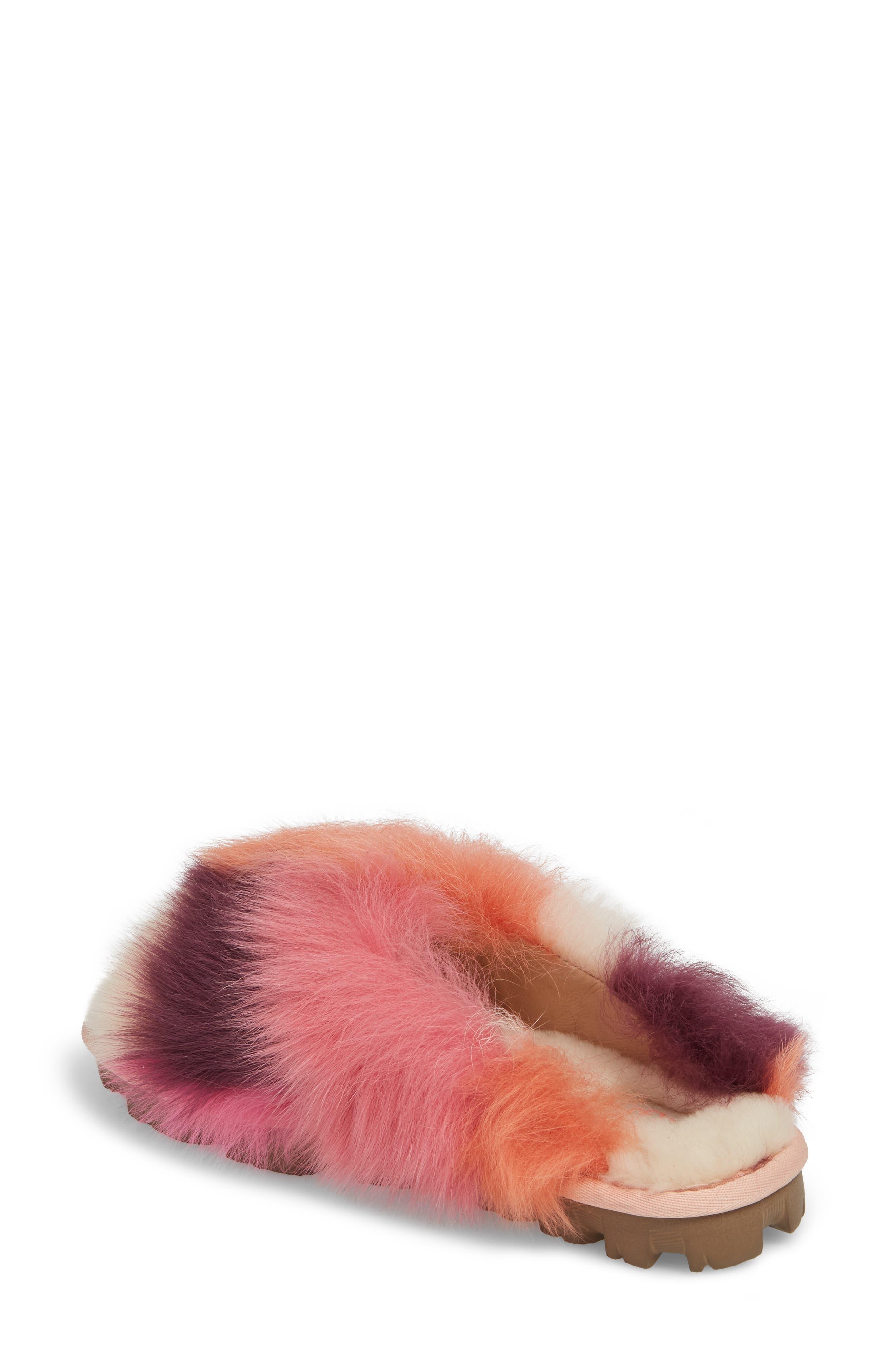 Shag It Crazy Genuine Toscana Shearling Slide Sandal,                             Alternate thumbnail 4, color,