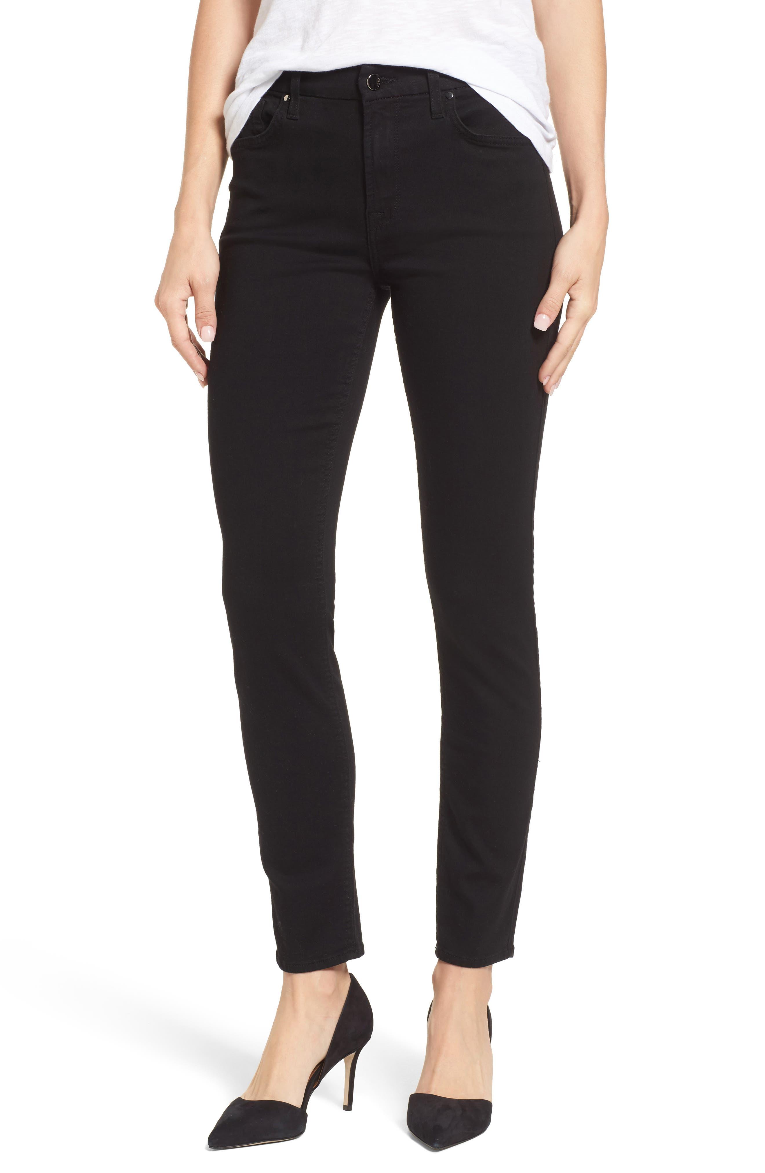 Skinny Jeans,                         Main,                         color, RICHE TOUCH BLACK NOIR