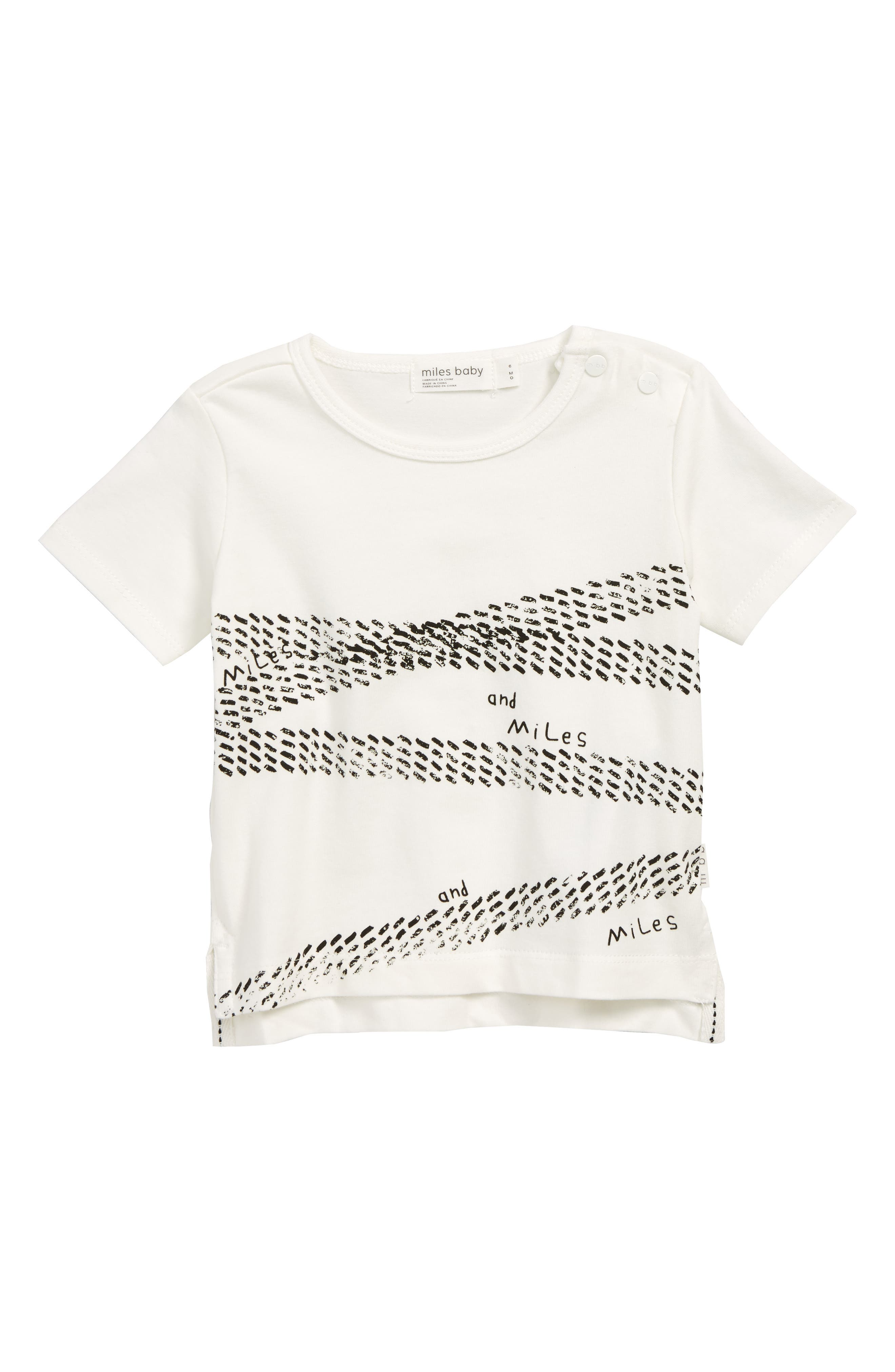 MILES BABY,                             T-Shirt,                             Main thumbnail 1, color,                             OFF WHITE