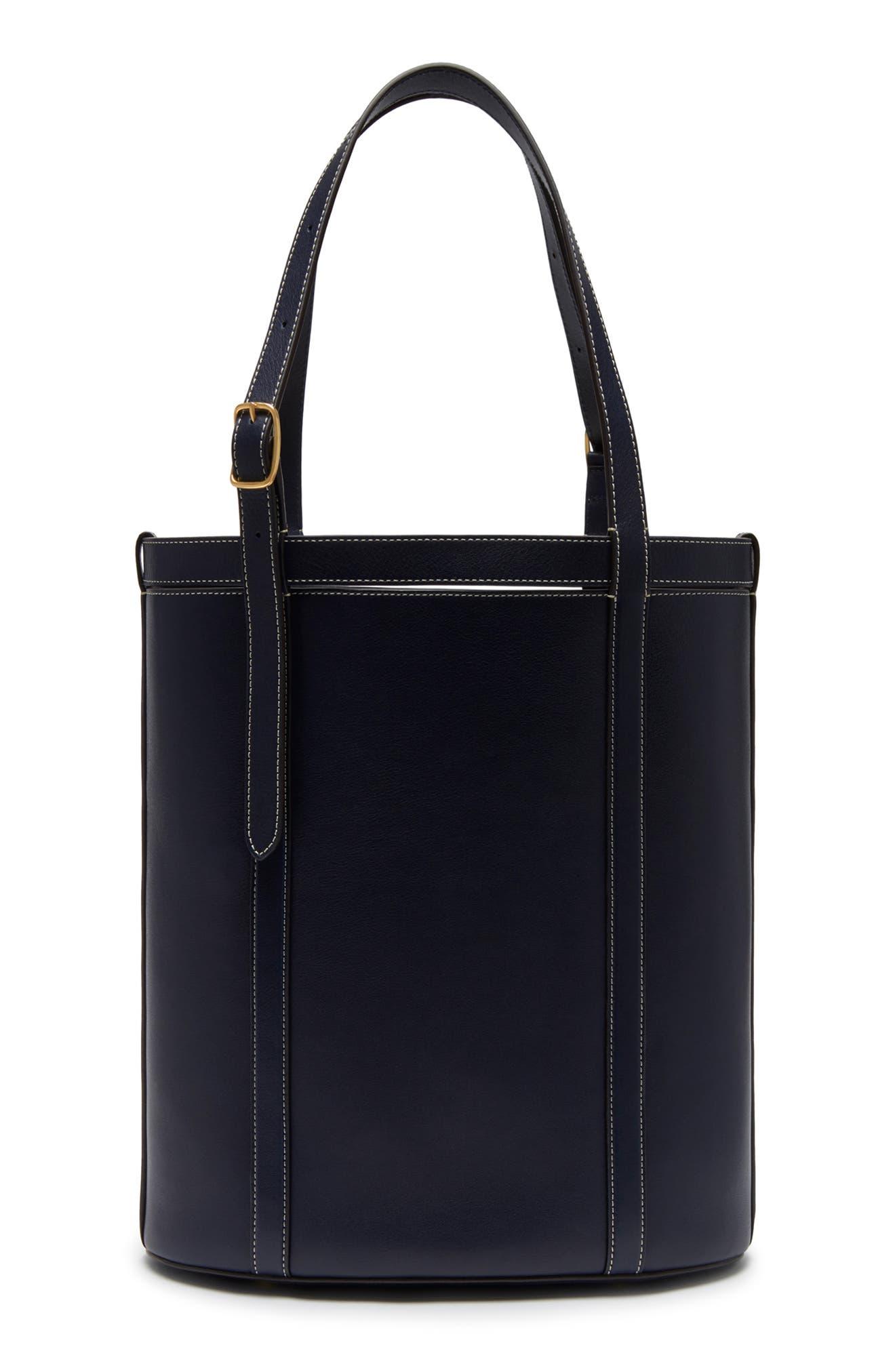 Small Wilton Leather Bucket Bag,                             Alternate thumbnail 2, color,                             MIDNIGHT