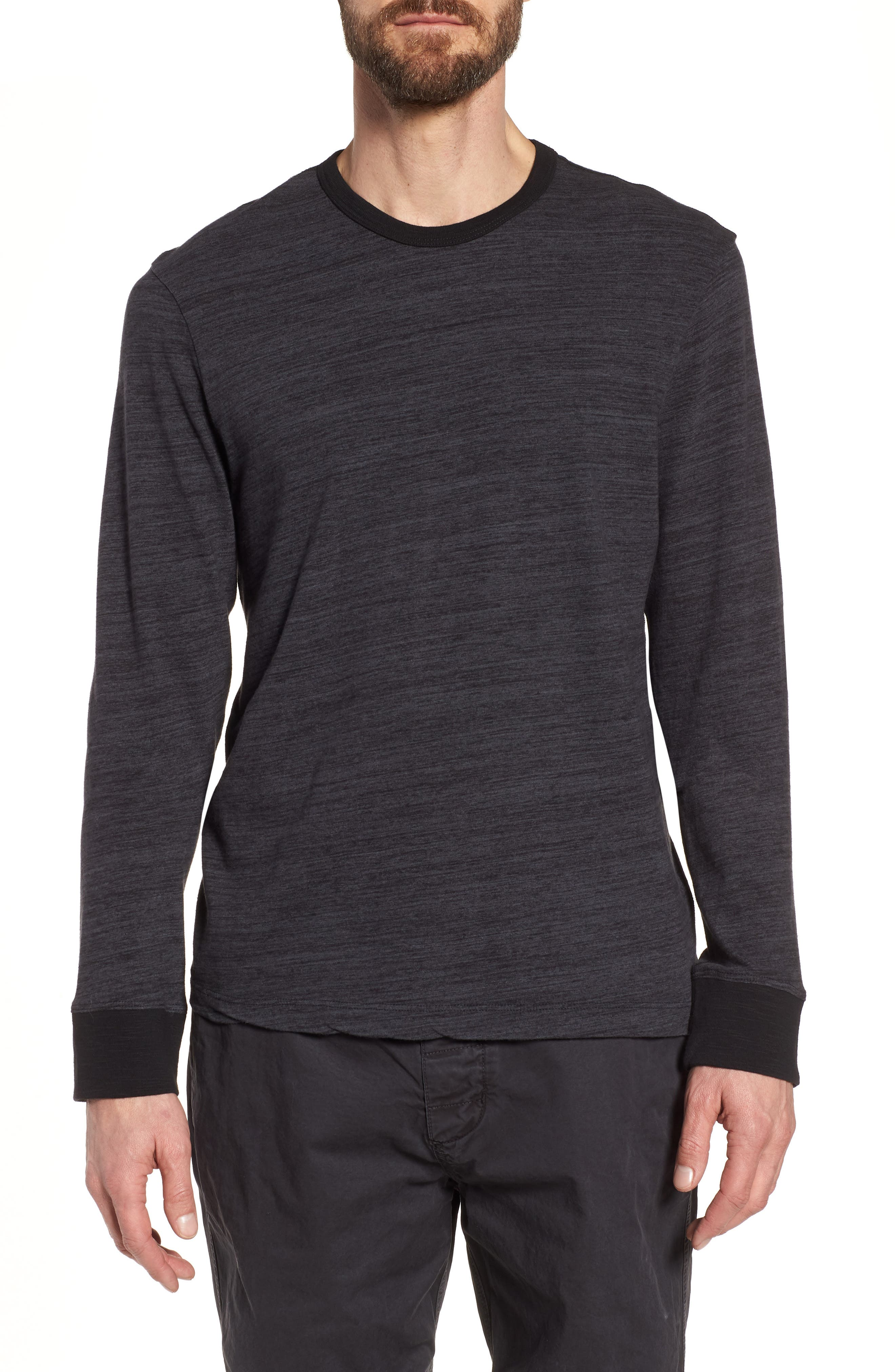 JAMES PERSE,                             Regular Fit Top Dyed Crewneck T-Shirt,                             Main thumbnail 1, color,                             002