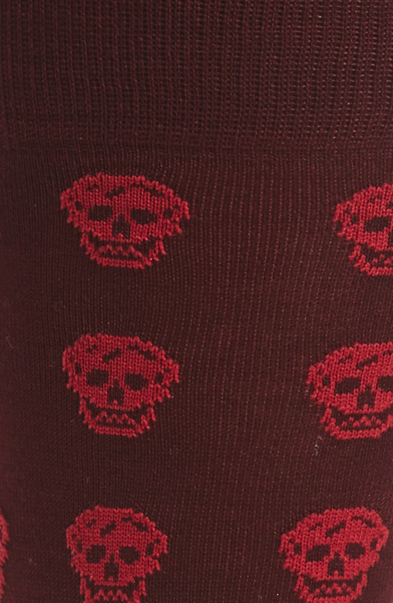 Skull Pattern Socks,                             Alternate thumbnail 2, color,                             603