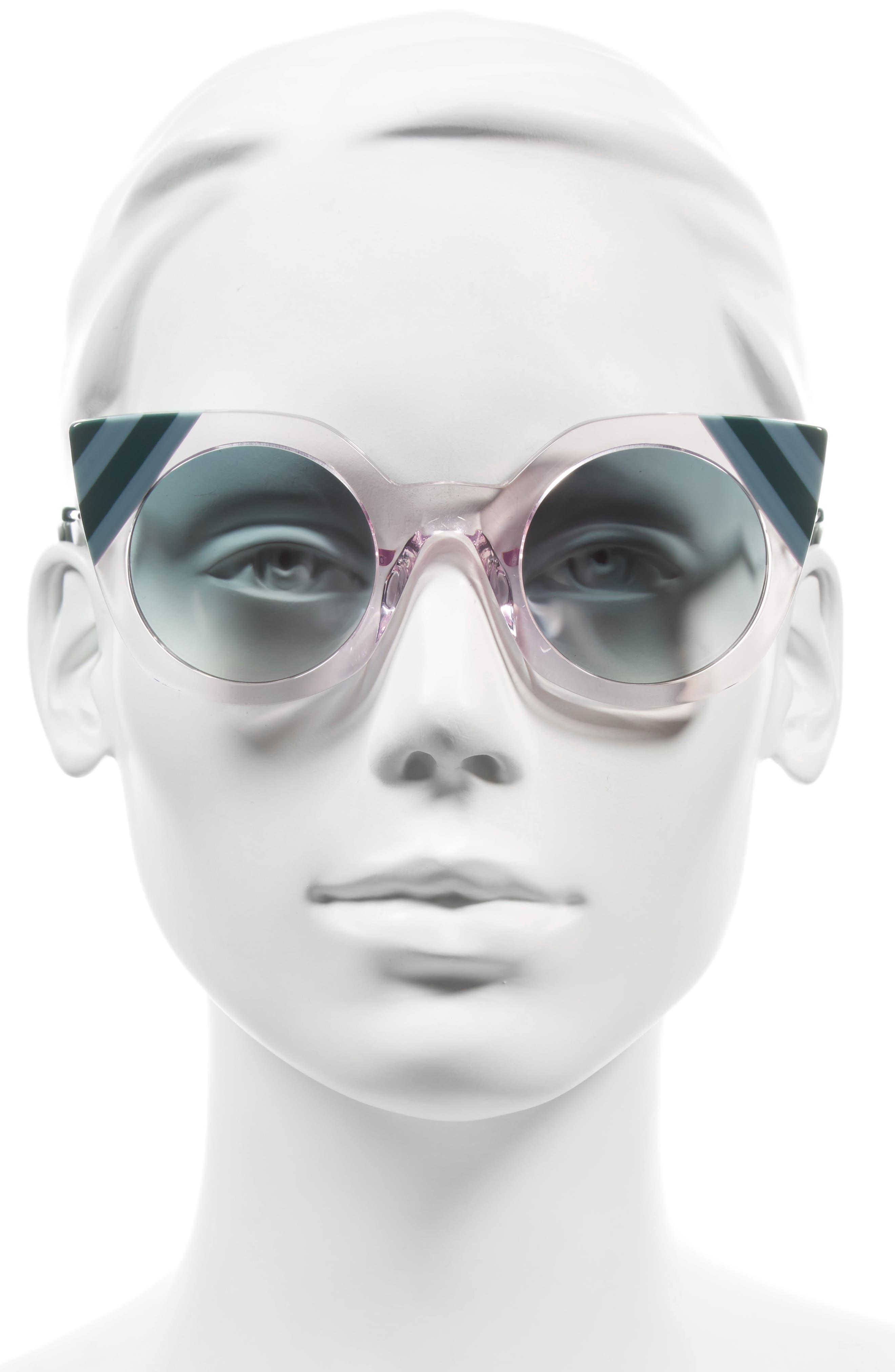 47mm Cat Eye Sunglasses,                             Alternate thumbnail 7, color,