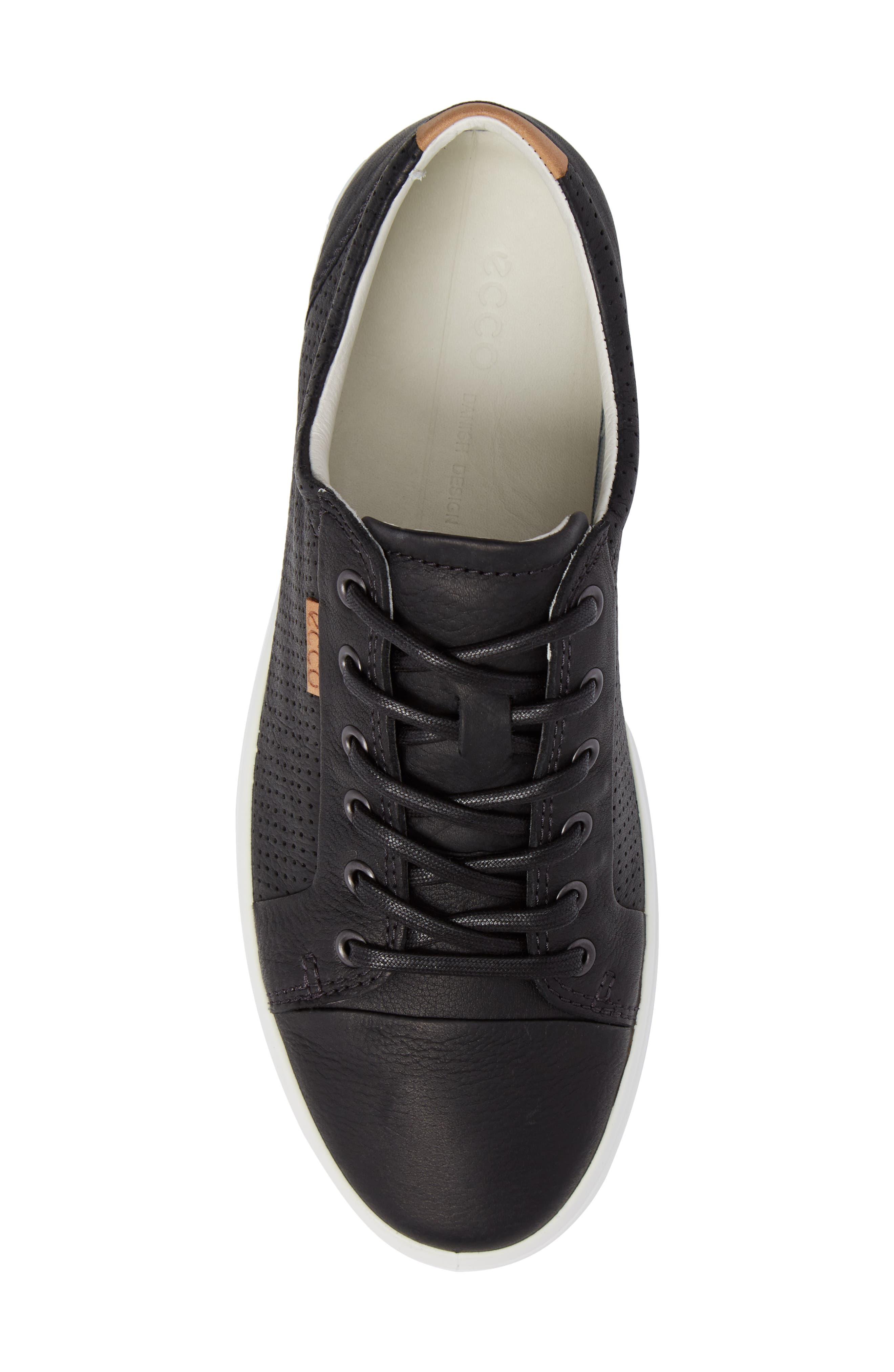 'Soft 7' Sneaker,                             Alternate thumbnail 5, color,                             BLACK LEATHER