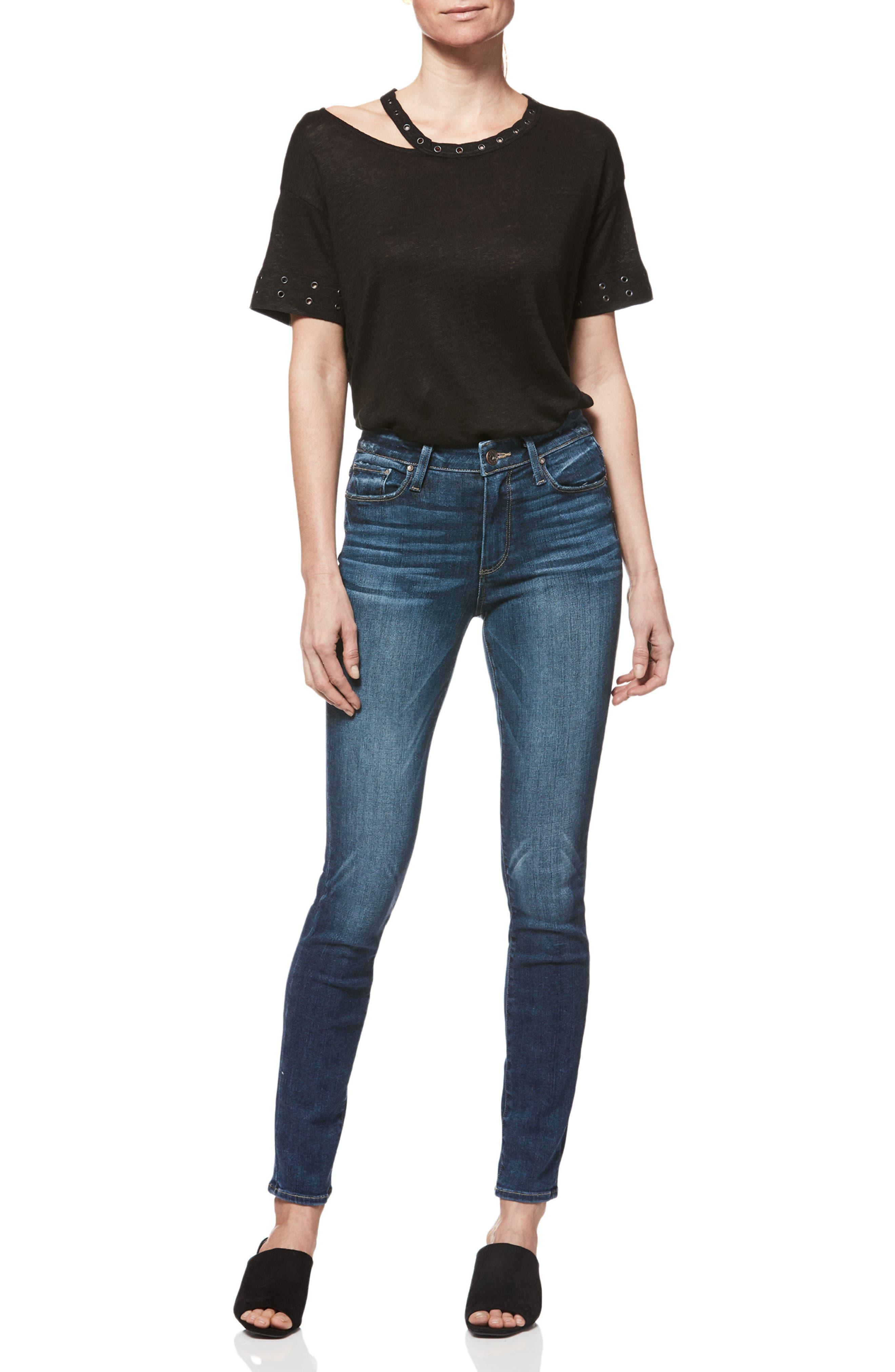 Transcend Vintage - Hoxton High Waist Ultra Skinny Jeans,                             Alternate thumbnail 3, color,                             400