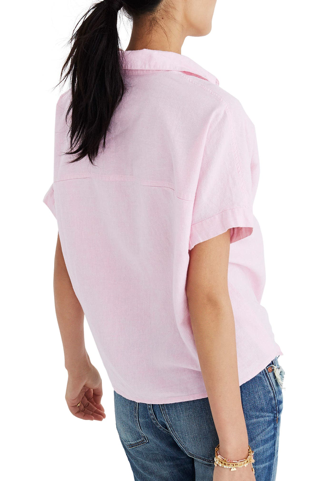 Tie Front Short Sleeve Top,                             Main thumbnail 1, color,                             650