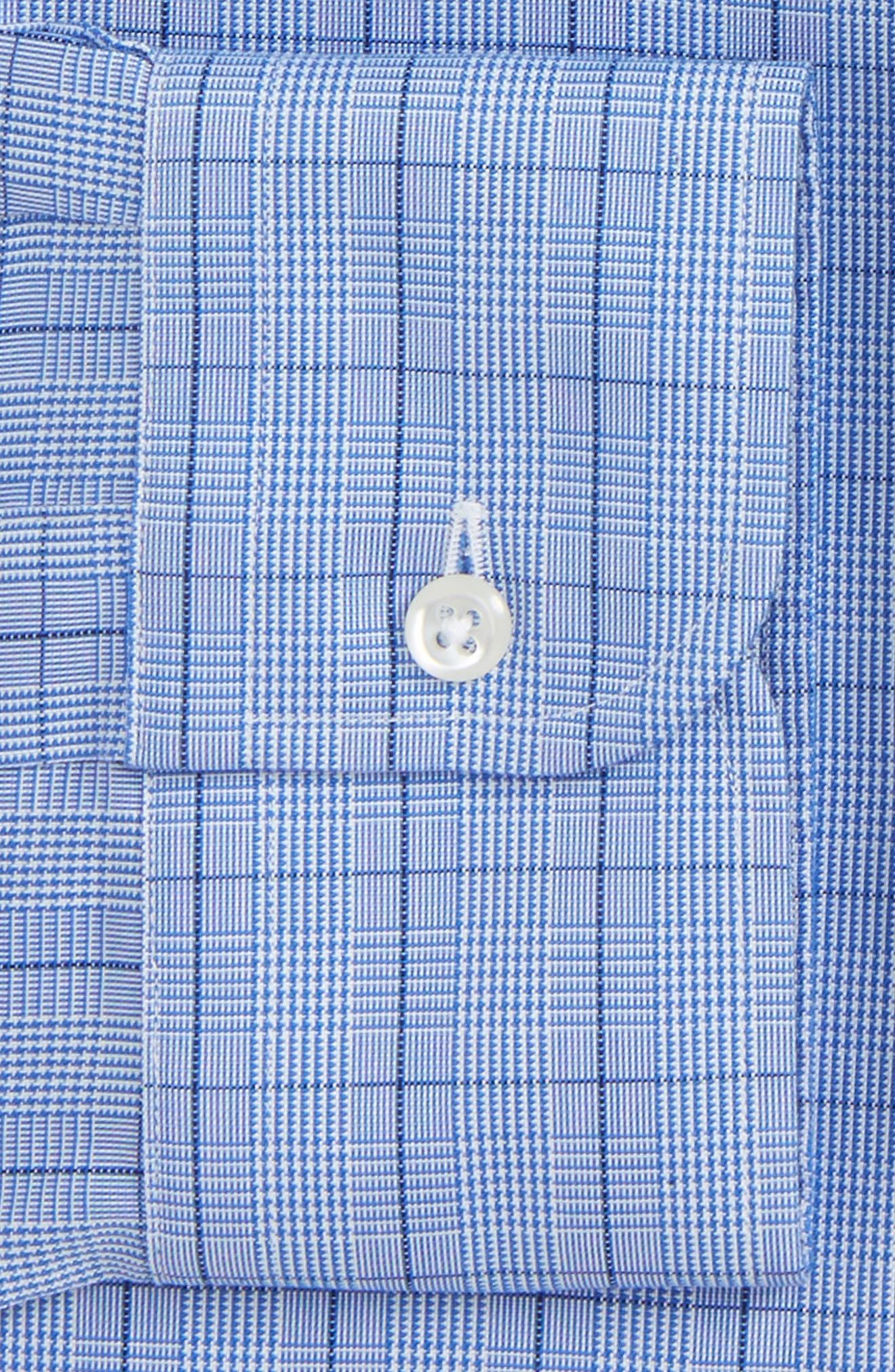 Smartcare<sup>™</sup> Classic Fit Windowpane Dress Shirt,                             Alternate thumbnail 4, color,