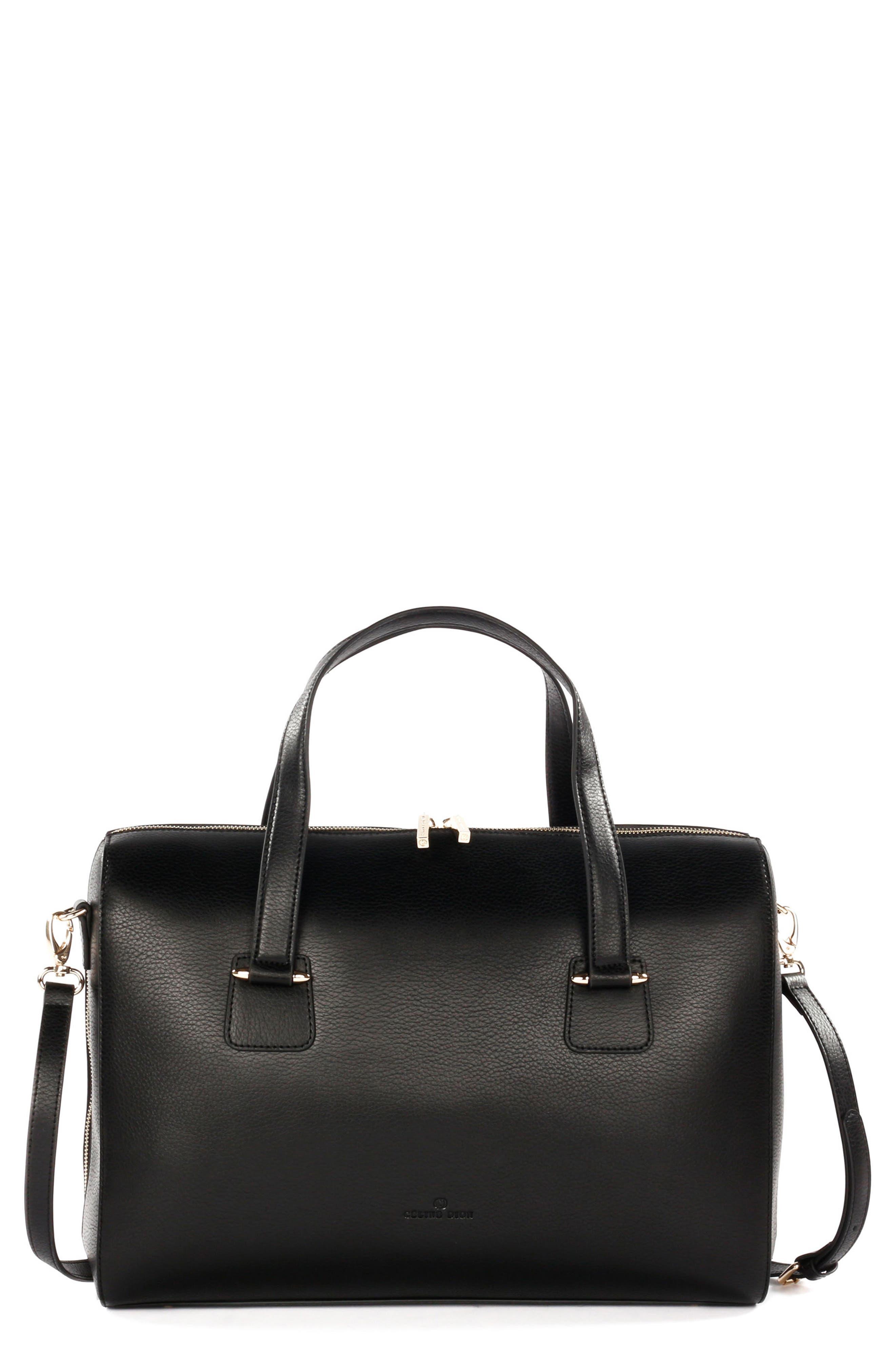Céline Dion Triad Leather Satchel,                         Main,                         color,