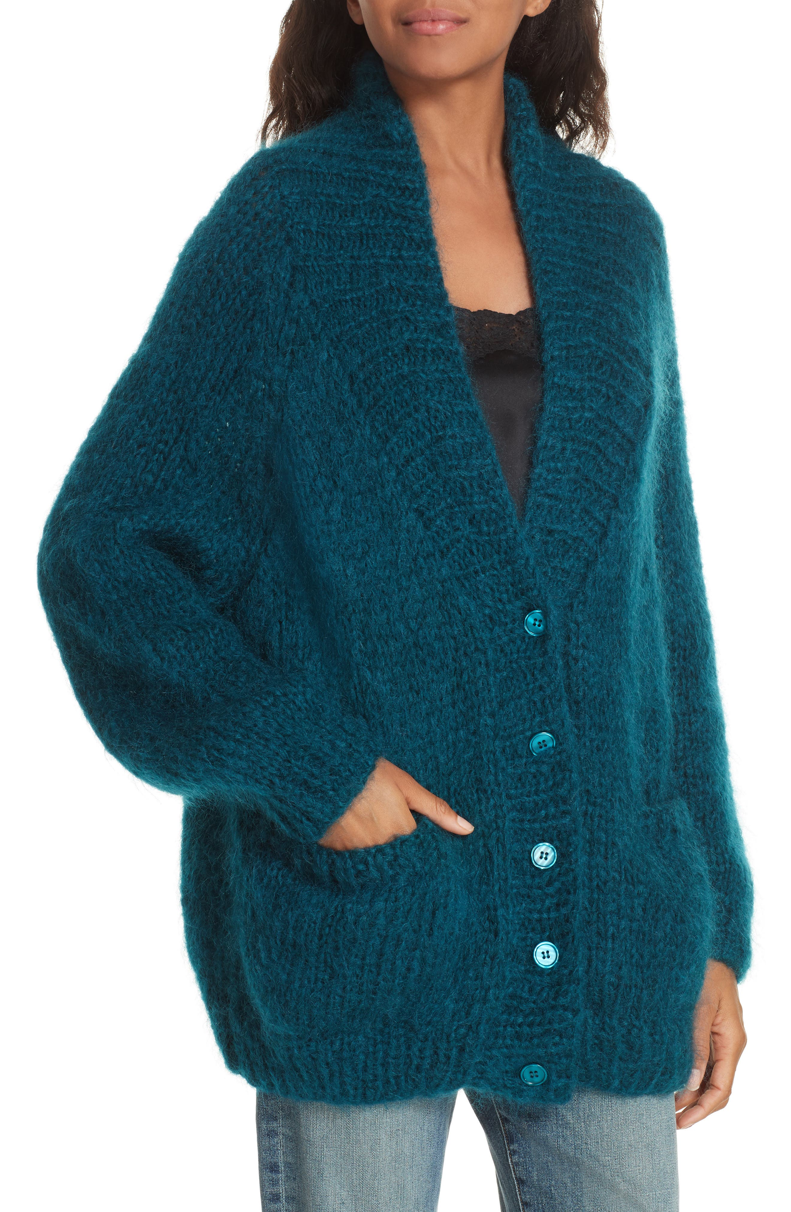 Knitted Cardigan,                             Alternate thumbnail 4, color,                             440
