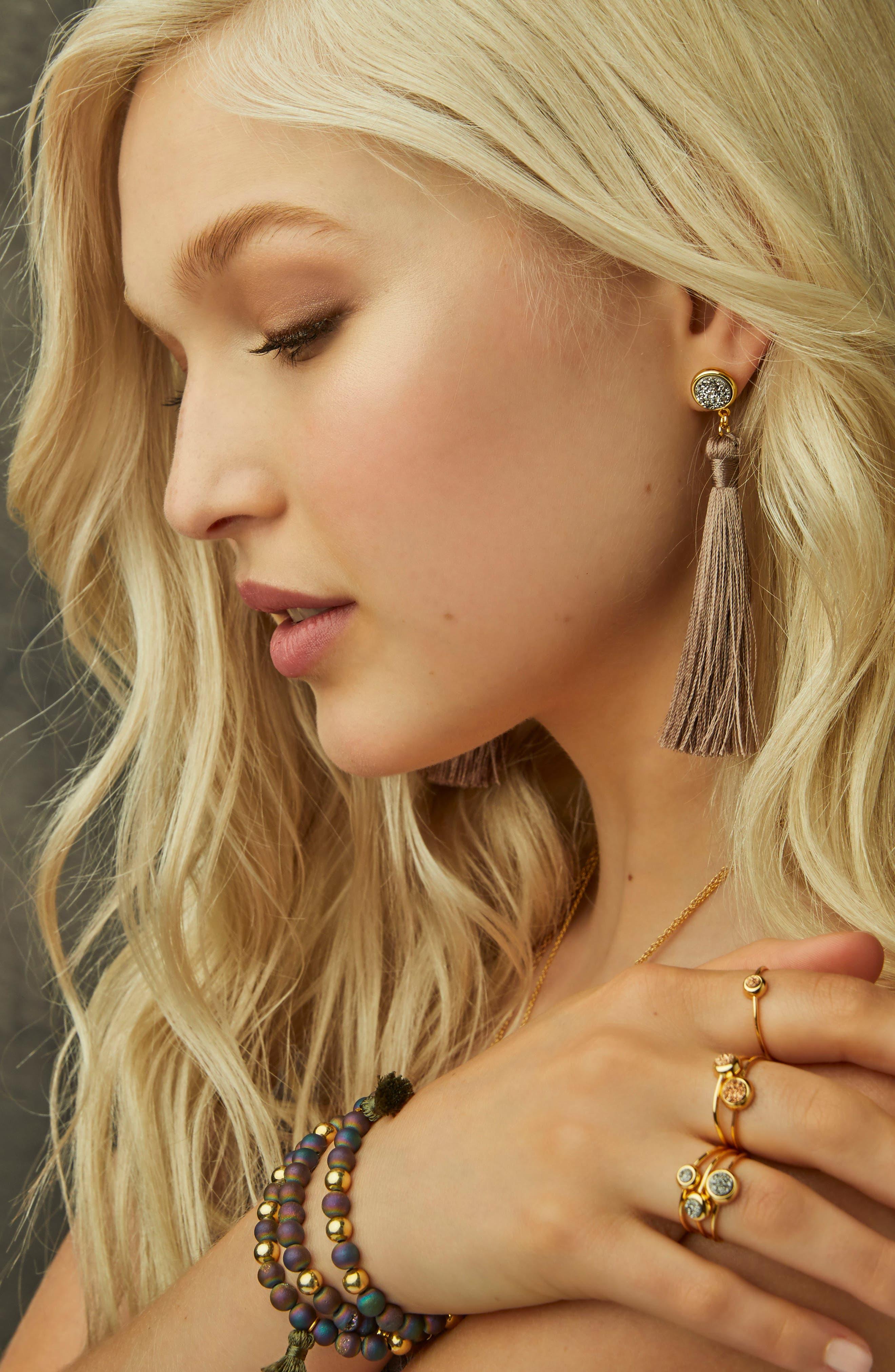 Hannah Drusy Tassel Wrap Bracelet,                             Alternate thumbnail 5, color,