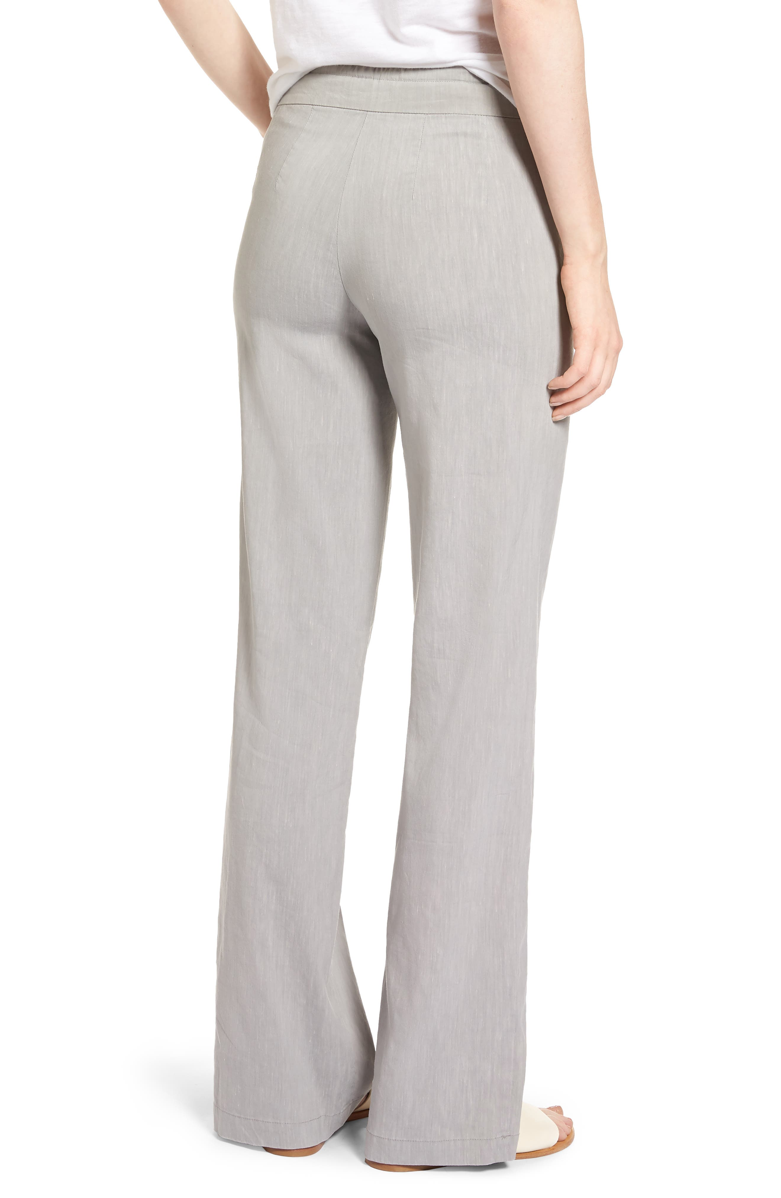 Traveling Linen Blend Stretch Pants,                             Alternate thumbnail 2, color,                             050