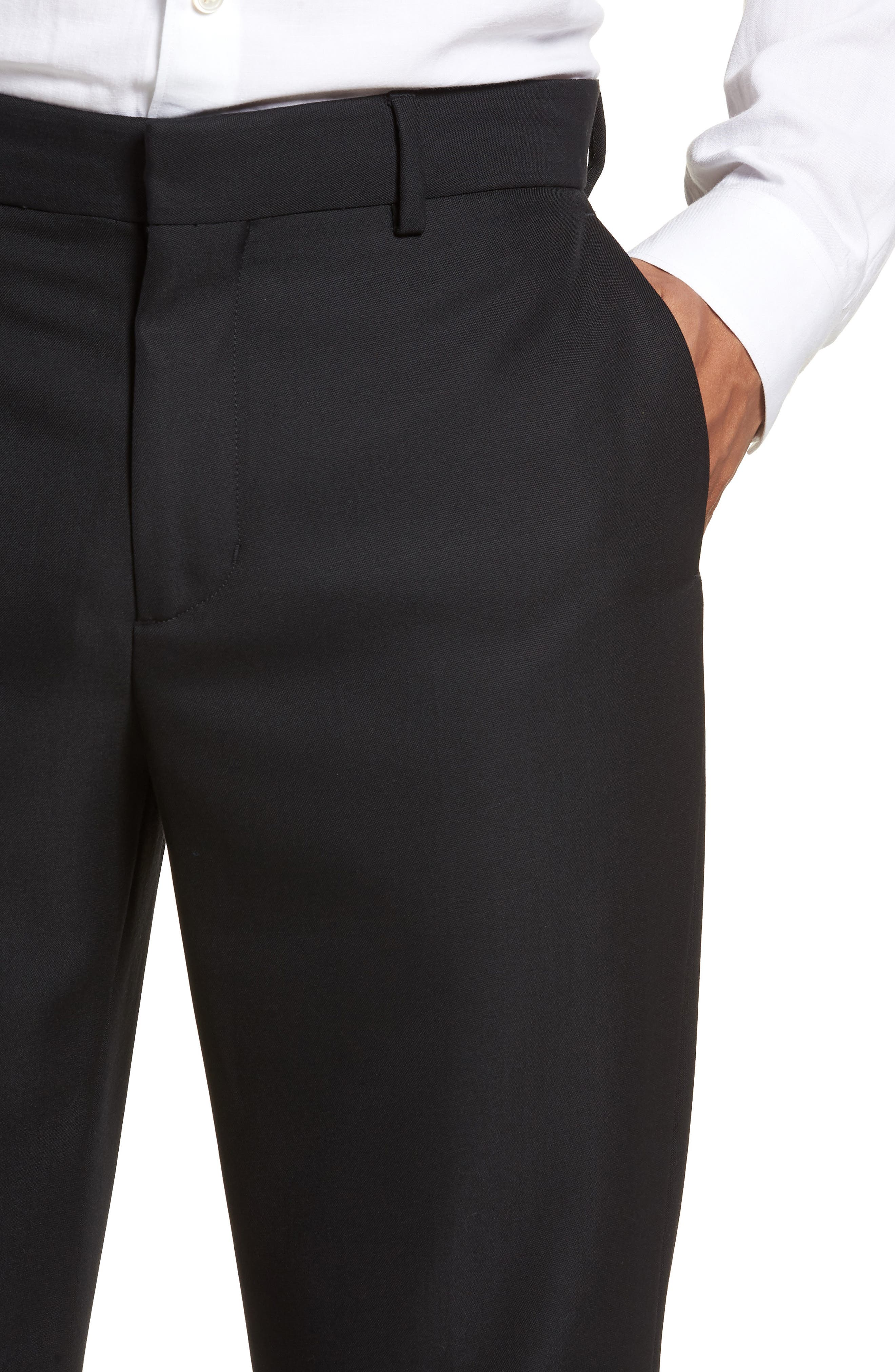 Classic Slim Fit Trousers,                             Alternate thumbnail 4, color,                             400