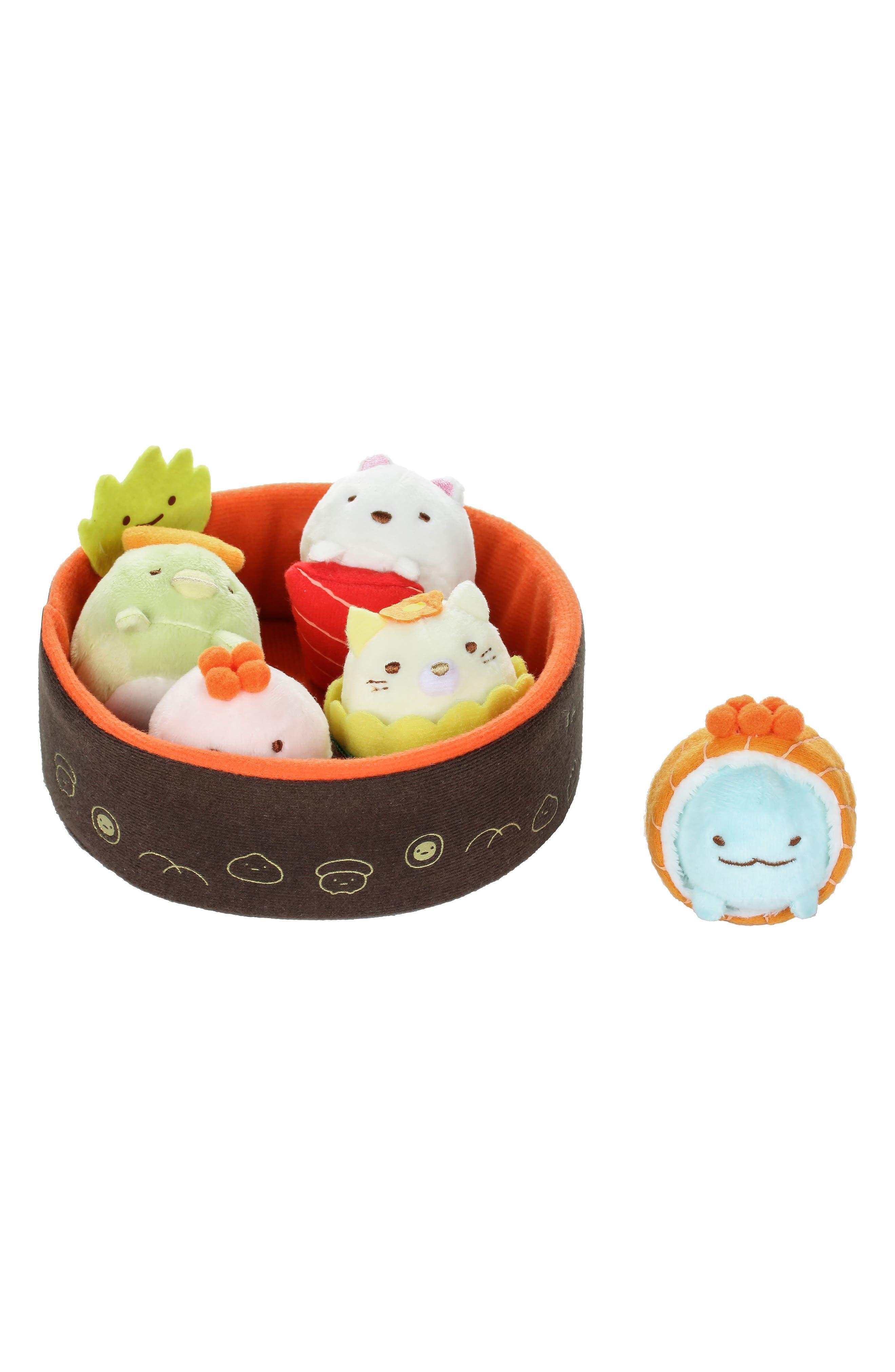 Rilakkuma Sumikko Gurashi Stuffed Sushi Bowl Set,                             Main thumbnail 1, color,                             300