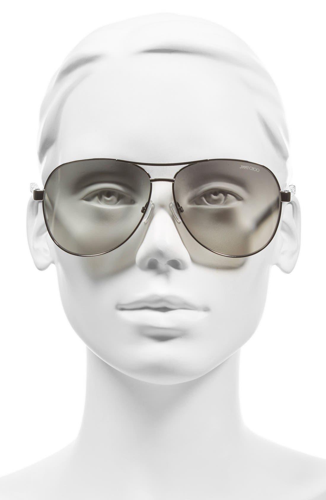 'Lexie' 61mm Aviator Sunglasses,                             Alternate thumbnail 7, color,