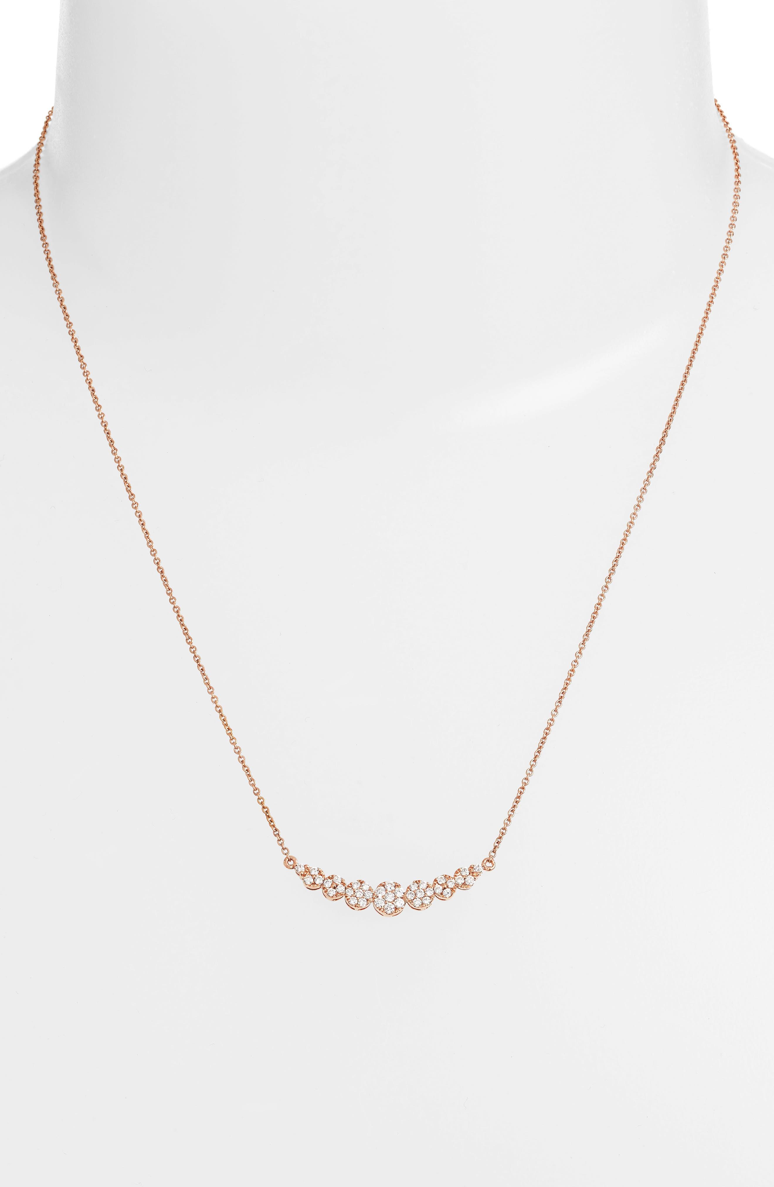 'Liora' Diamond Pendant Necklace,                             Alternate thumbnail 2, color,                             ROSE GOLD