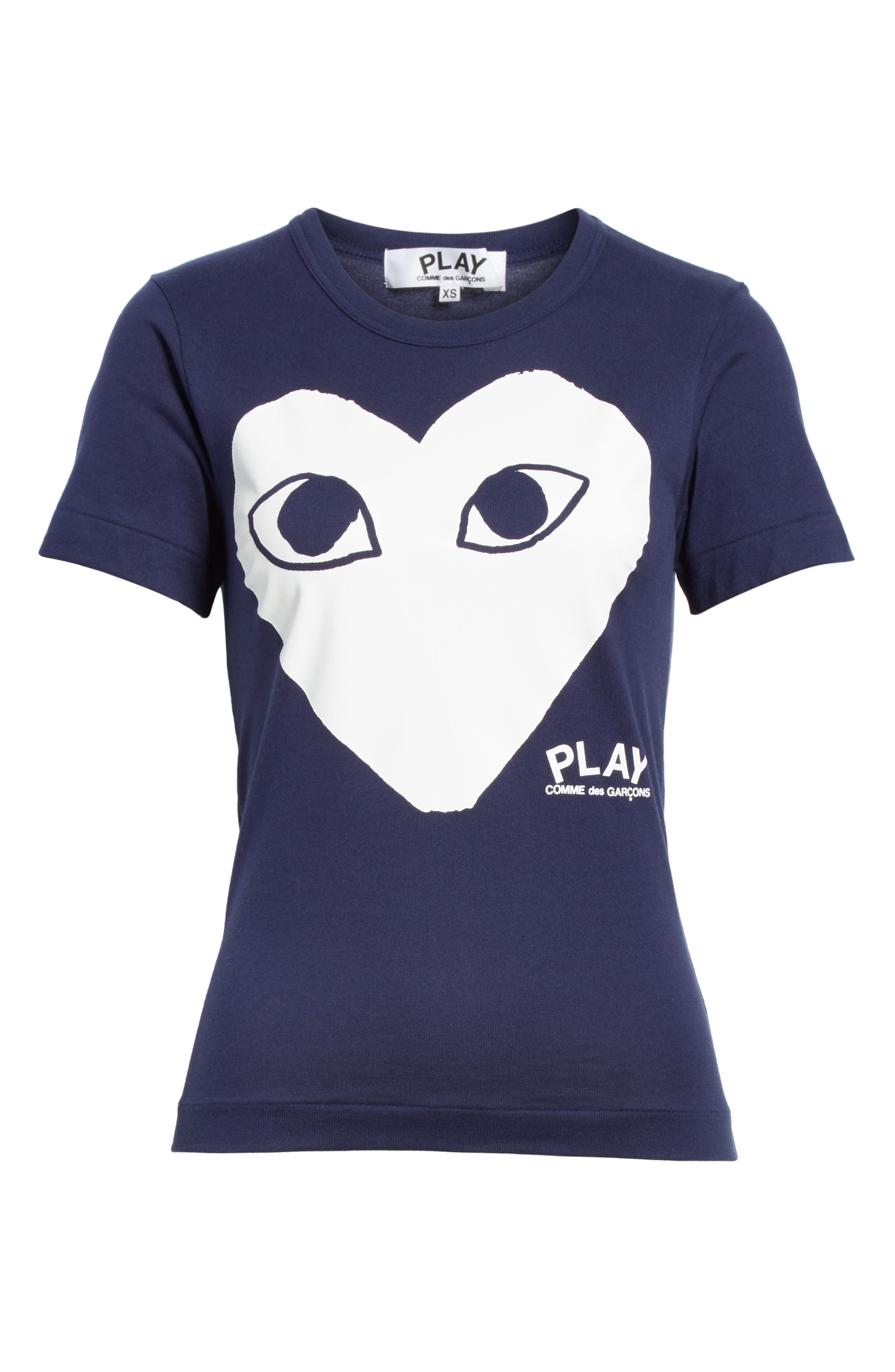 Big Heart Graphic Tee,                             Alternate thumbnail 6, color,                             NAVY